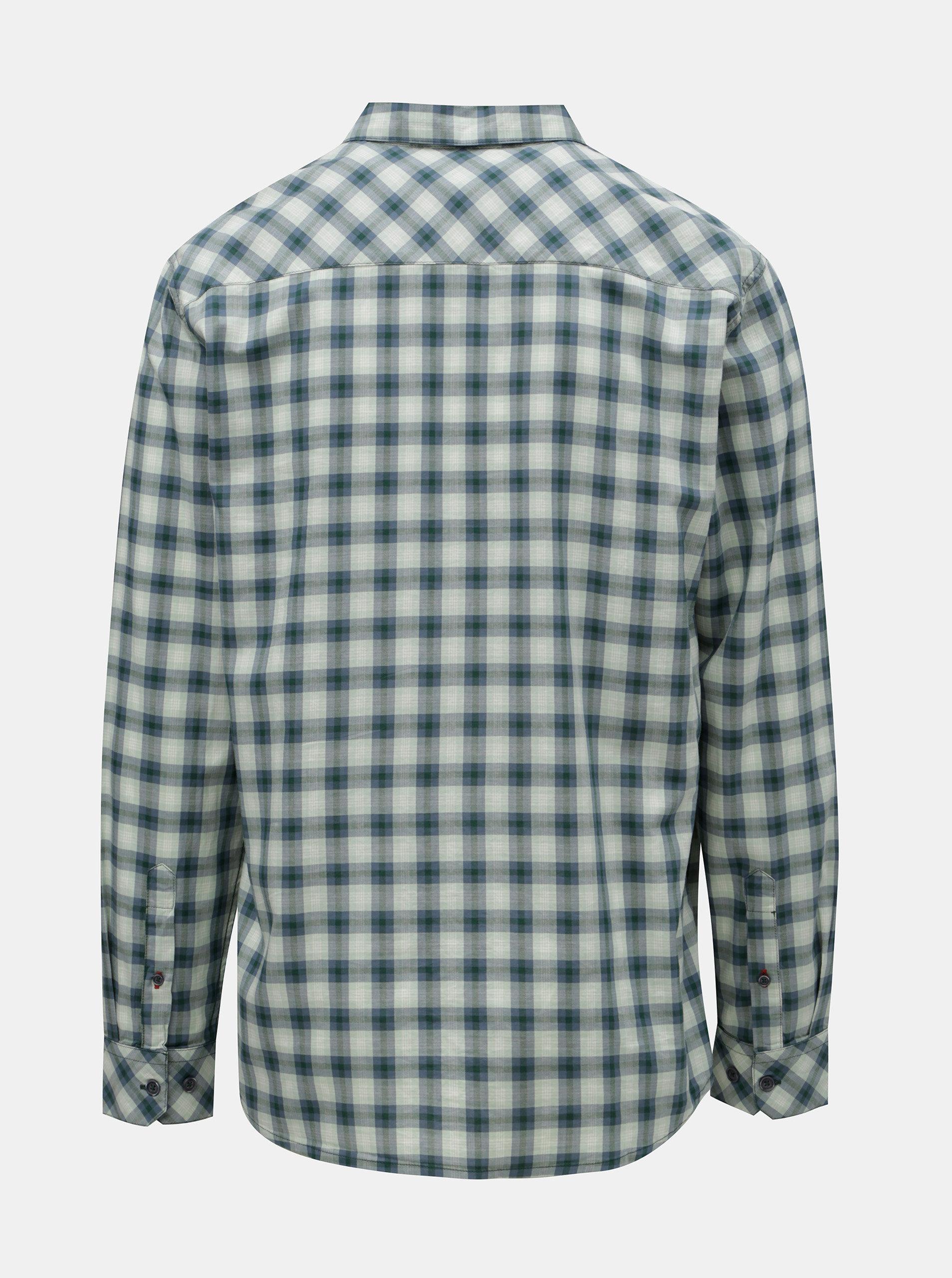 09bc121c5e9d Modro–zelená pánska károvaná košeľa BUSHMAN Gresham ...