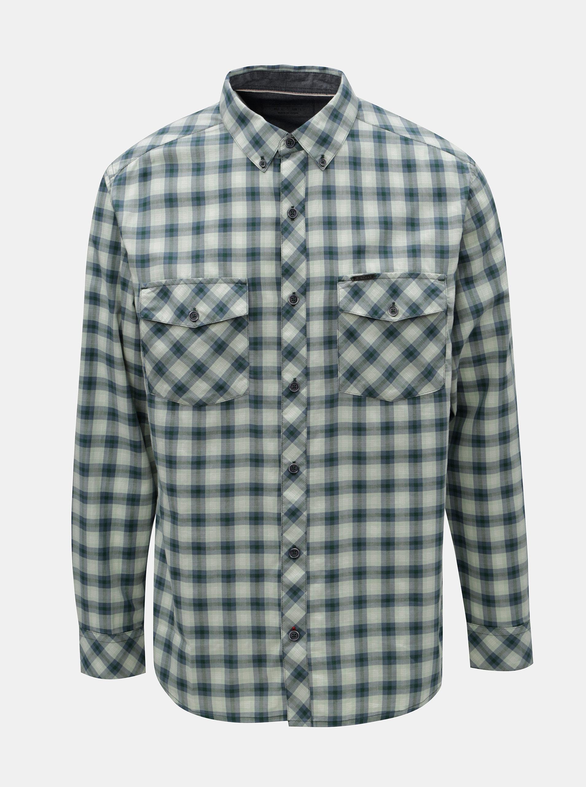 Modro-zelená pánská kostkovaná košile BUSHMAN Gresham ... 07938bdae6
