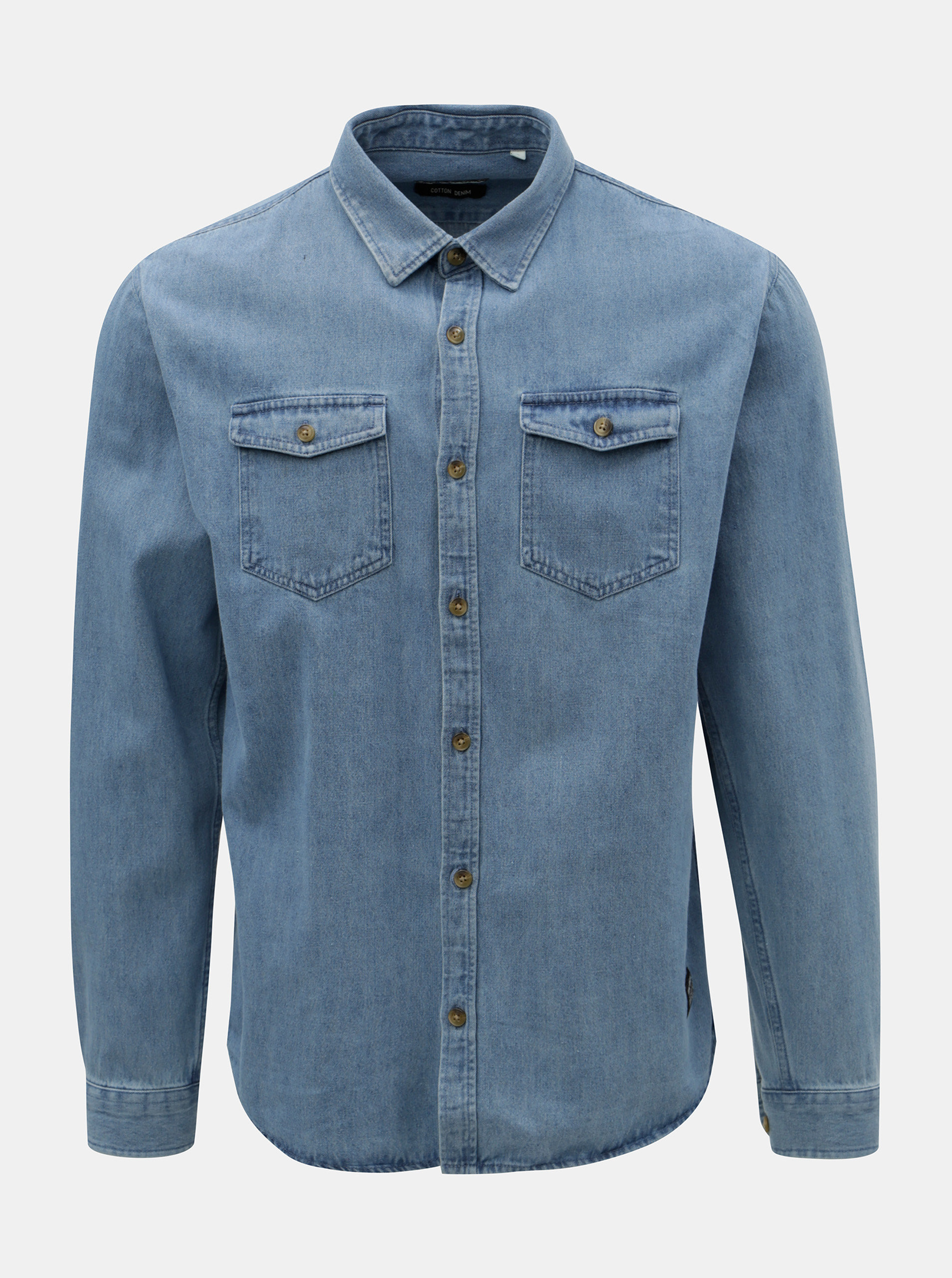 Modrá džínová košile s náprsními kapsami Shine Original