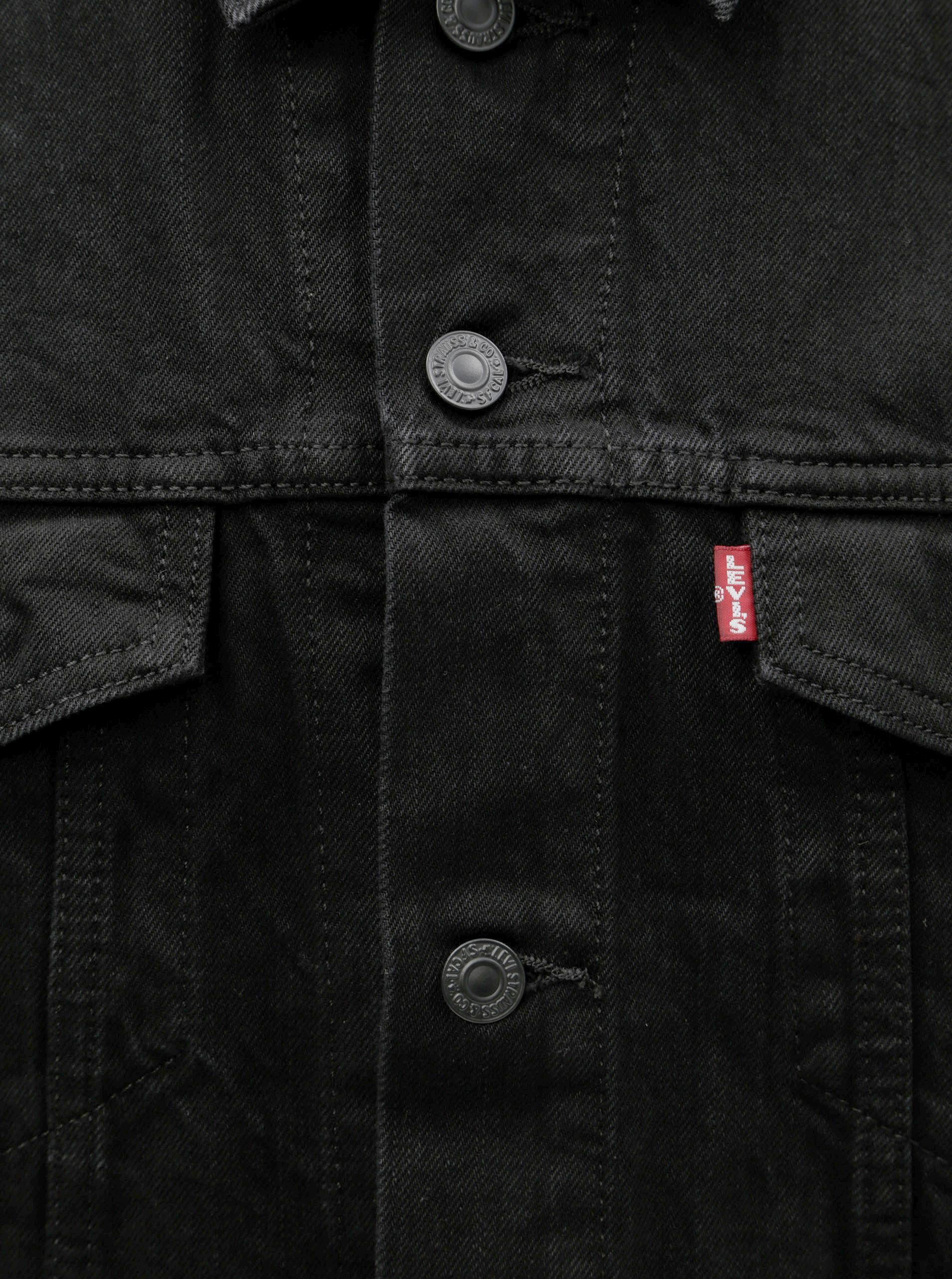 Čierna pánska rifľová bunda Levi s® Barrow ... 564d0301583