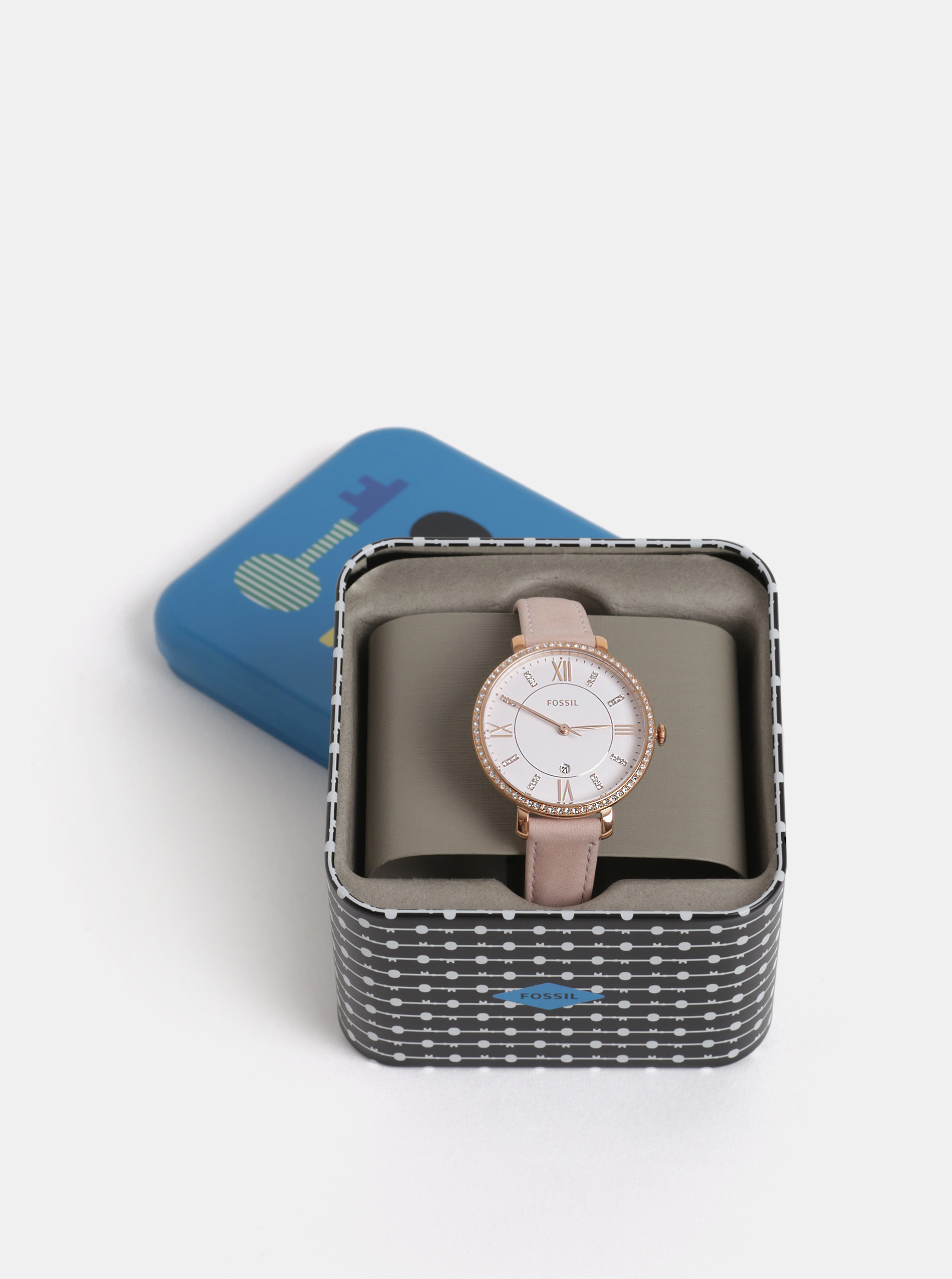 f594b895d Dámske hodinky s ružovým koženým remienkom Fossil Jacqueline | ZOOT.sk