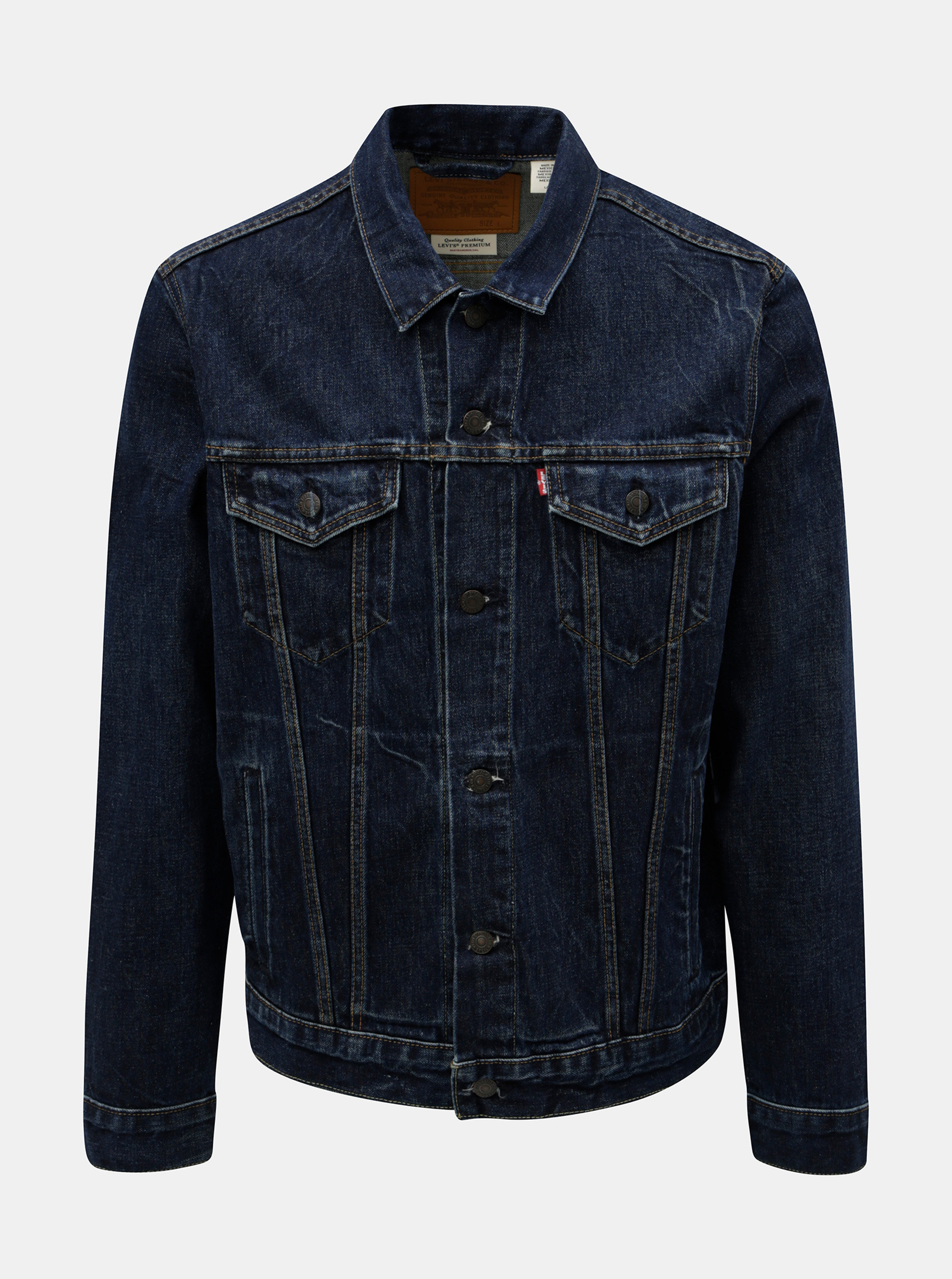 Tmavě modrá pánská džínová bunda Levi's® Barrow