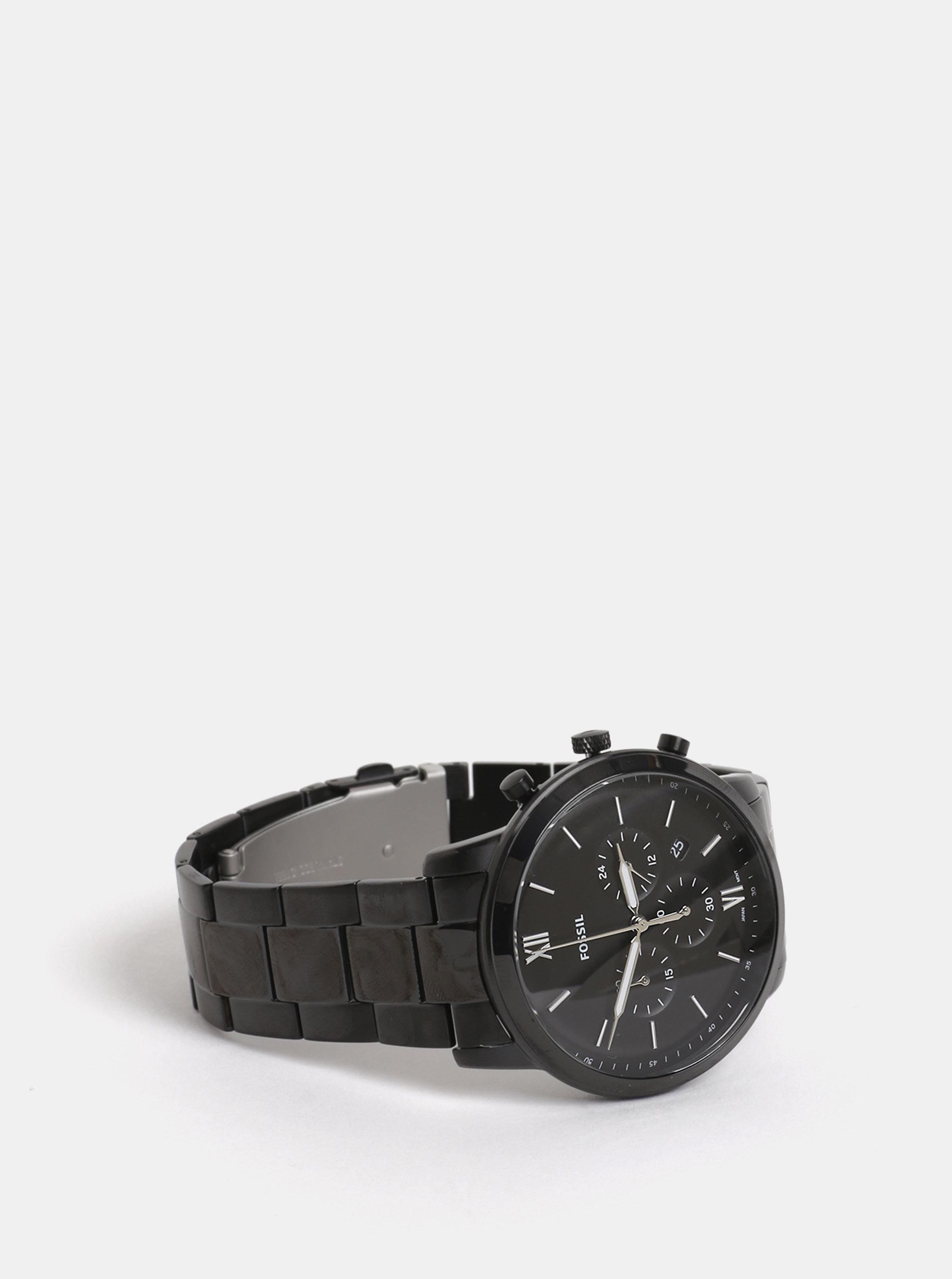 Černé pánské hodinky Fossil Neutra ... 7a734bde525