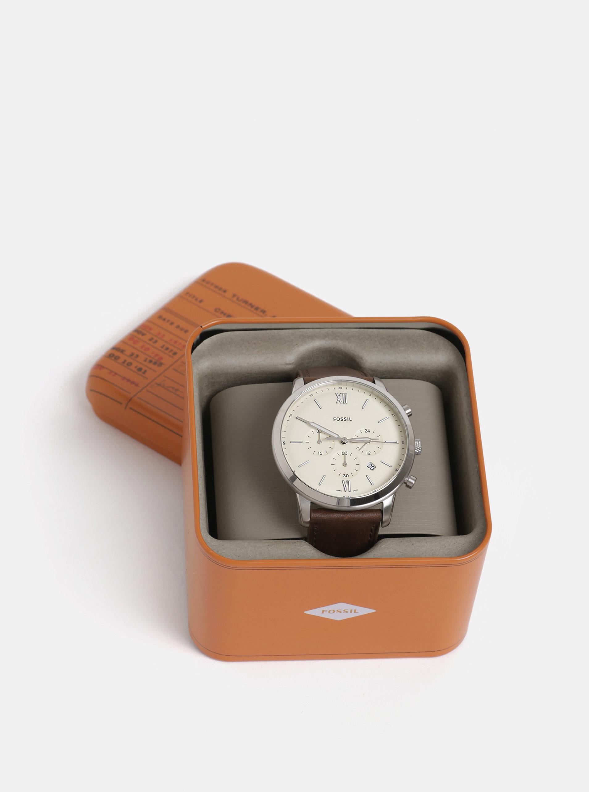 18725f79a Pánske hodinky s hnedým koženým remienkom Fossil Neutra Chrono | ZOOT.sk