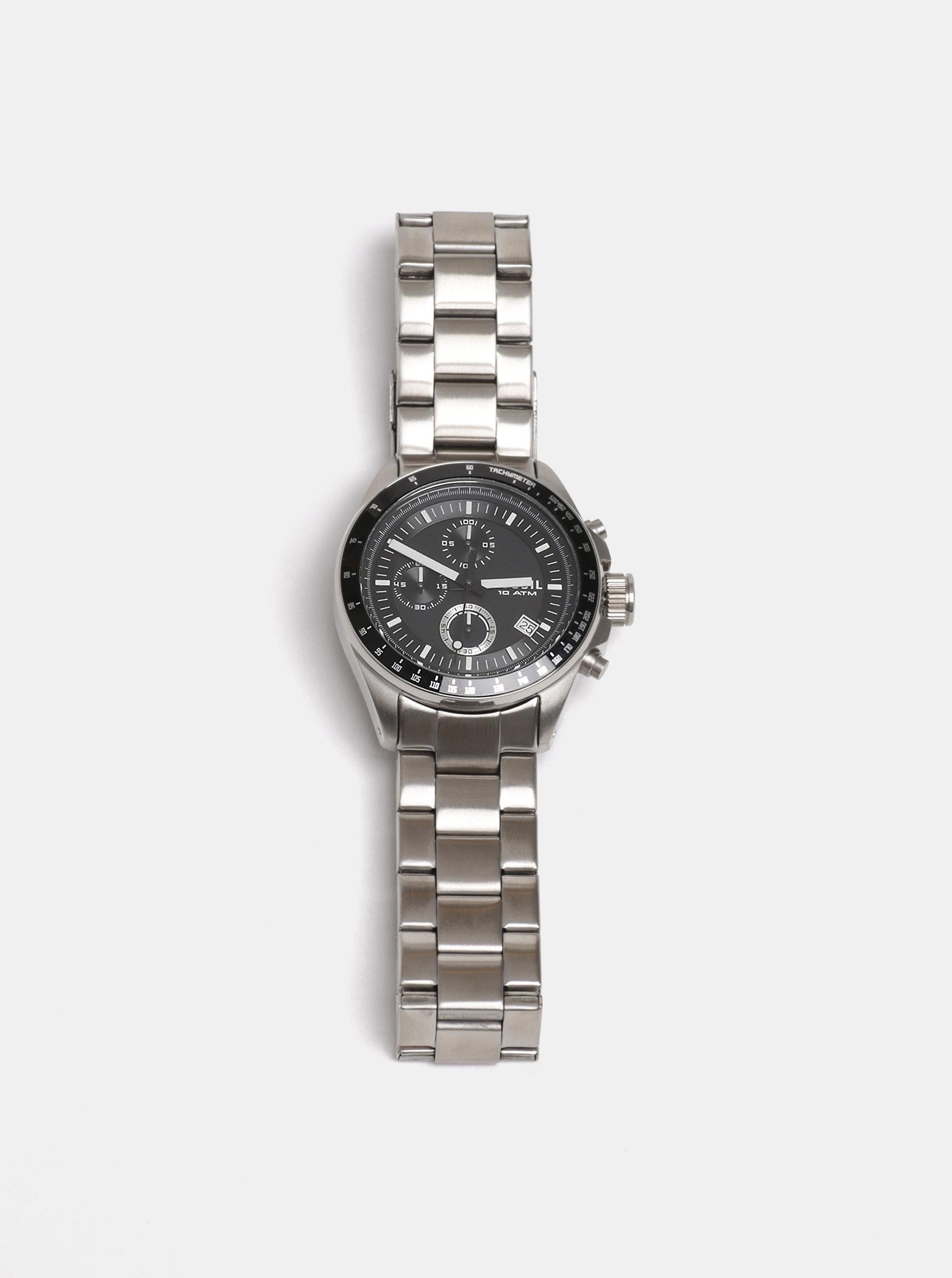 Pánské hodinky ve stříbrné barvě Fossil Decker - Akční cena ... c4c120ca325