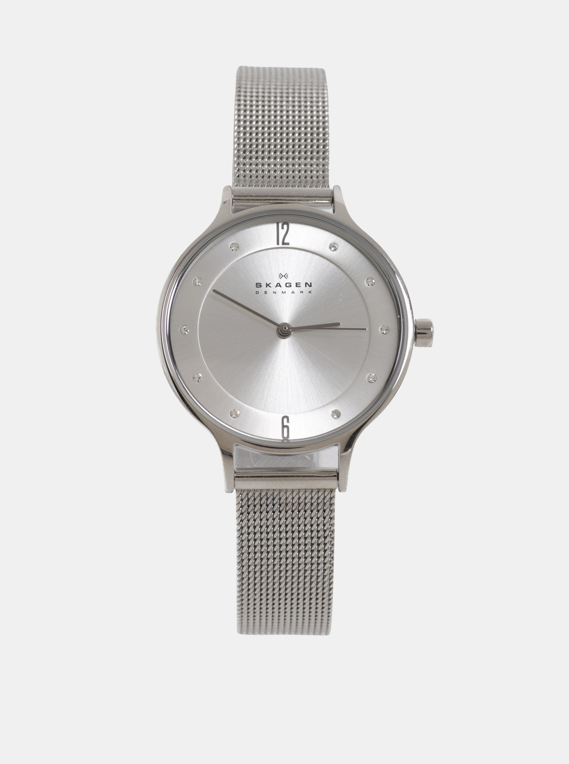 Dámské hodinky ve stříbrné barvě Skagen