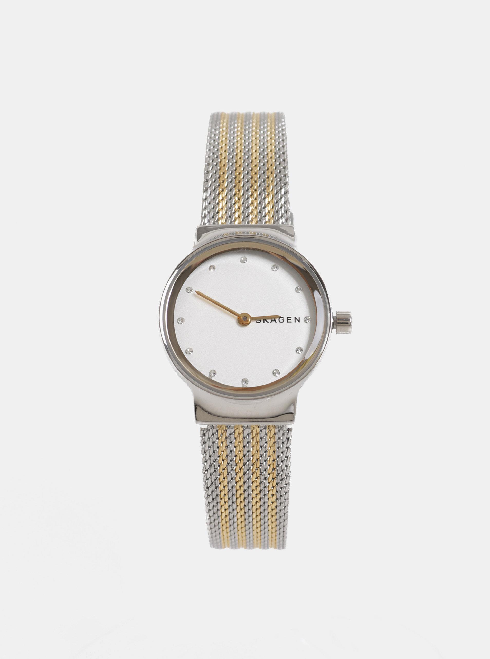 Dámské hodinky ve zlato-stříbrné barvě Skagen