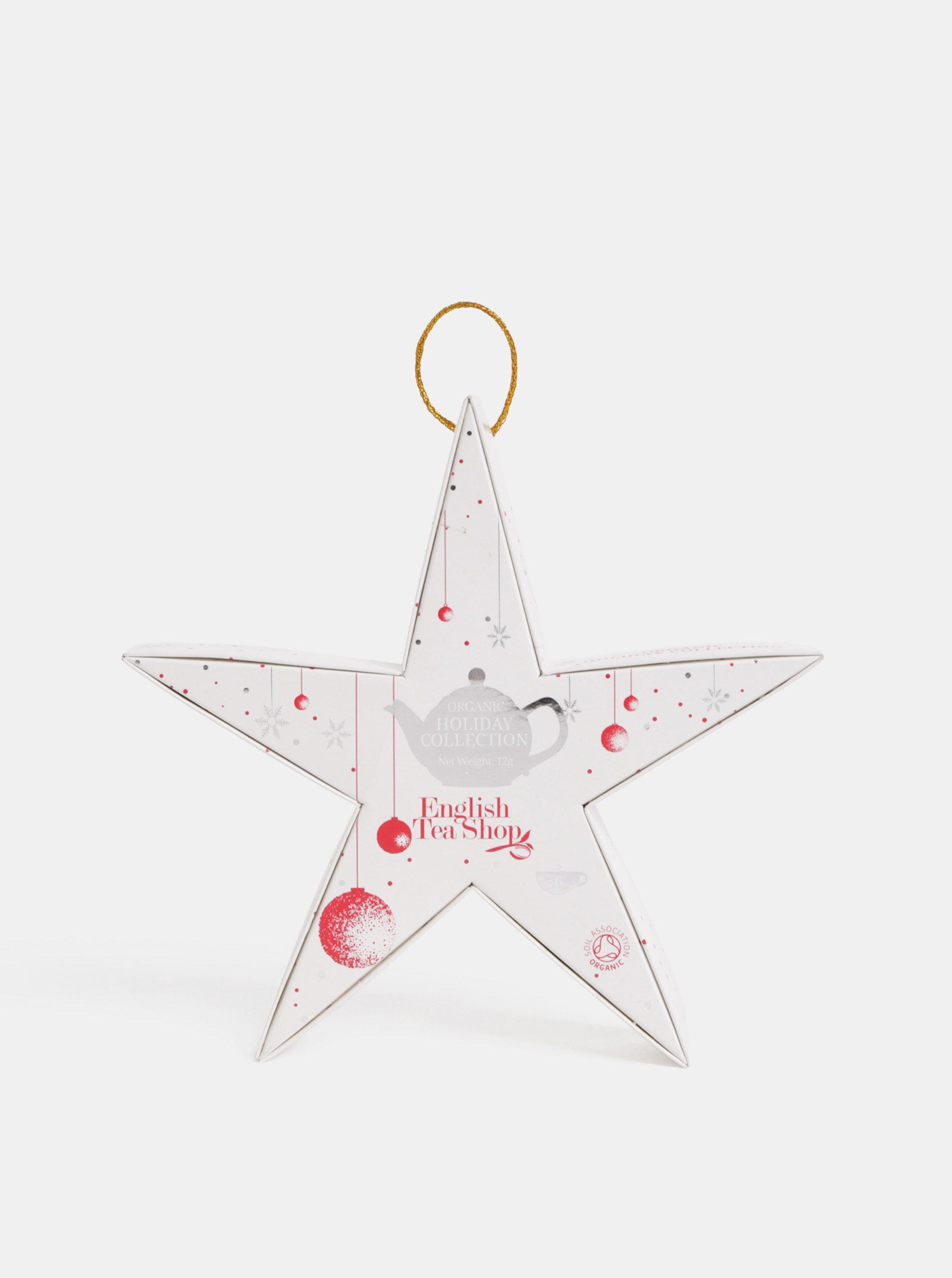Vánoční čajová kolekce v bílé barvě English Tea Shop Hvězda
