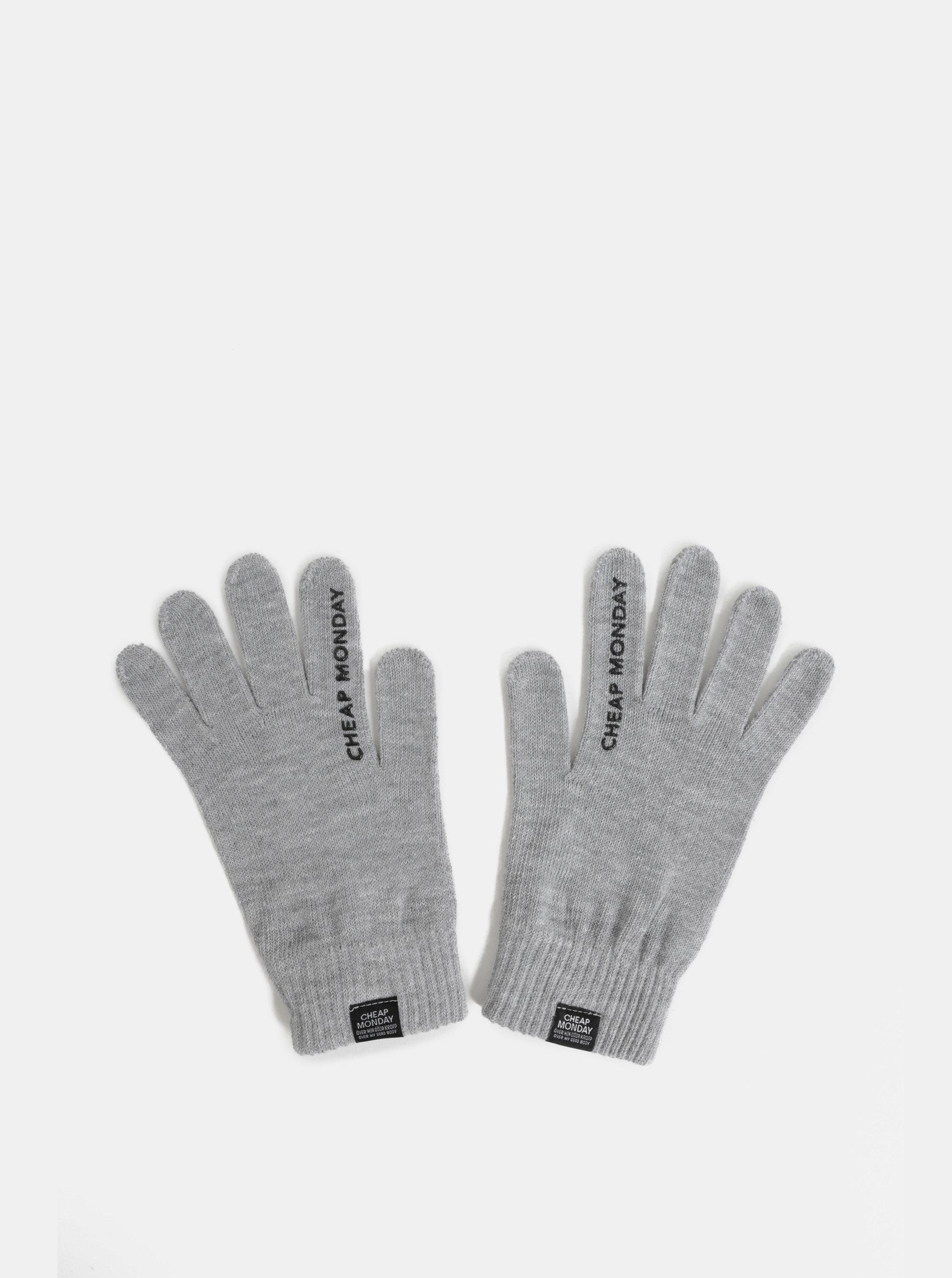 Šedé zimní rukavice Cheap Monday
