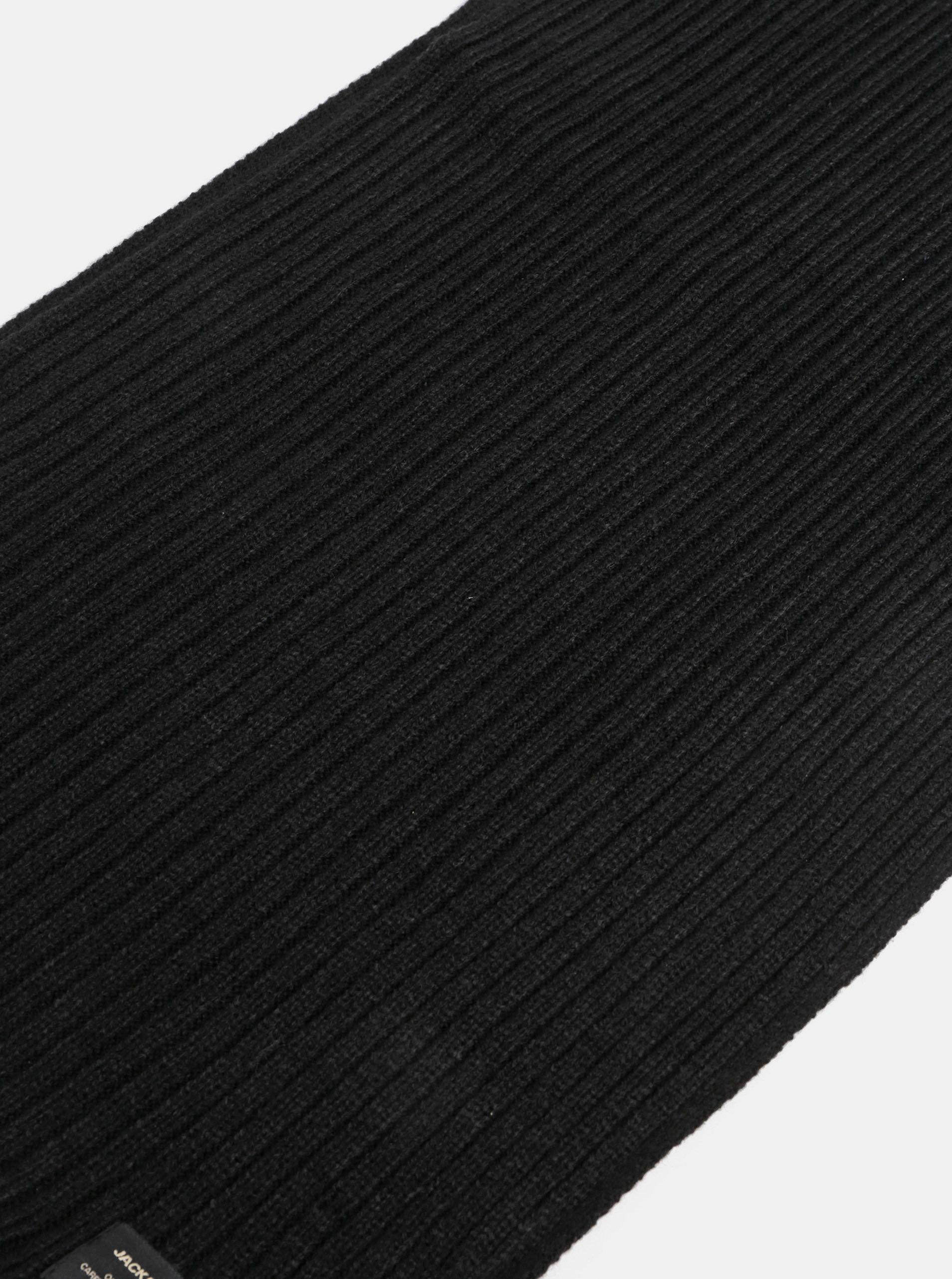 Černá pletená dutá šála Jack   Jones Tube ... 3c8c34071b