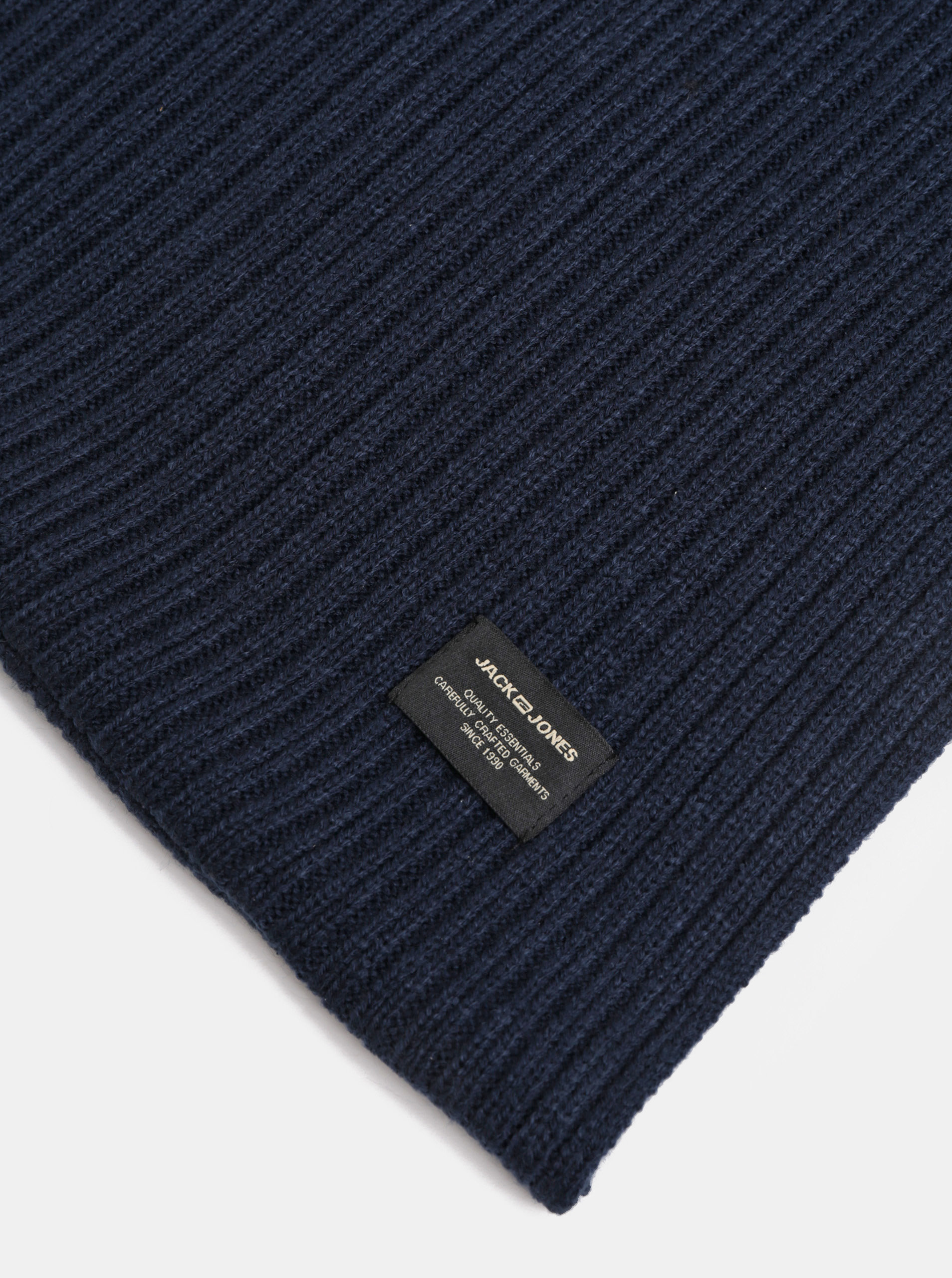 Tmavě modrá pletená dutá šála Jack   Jones Tube ... f47f6e488e