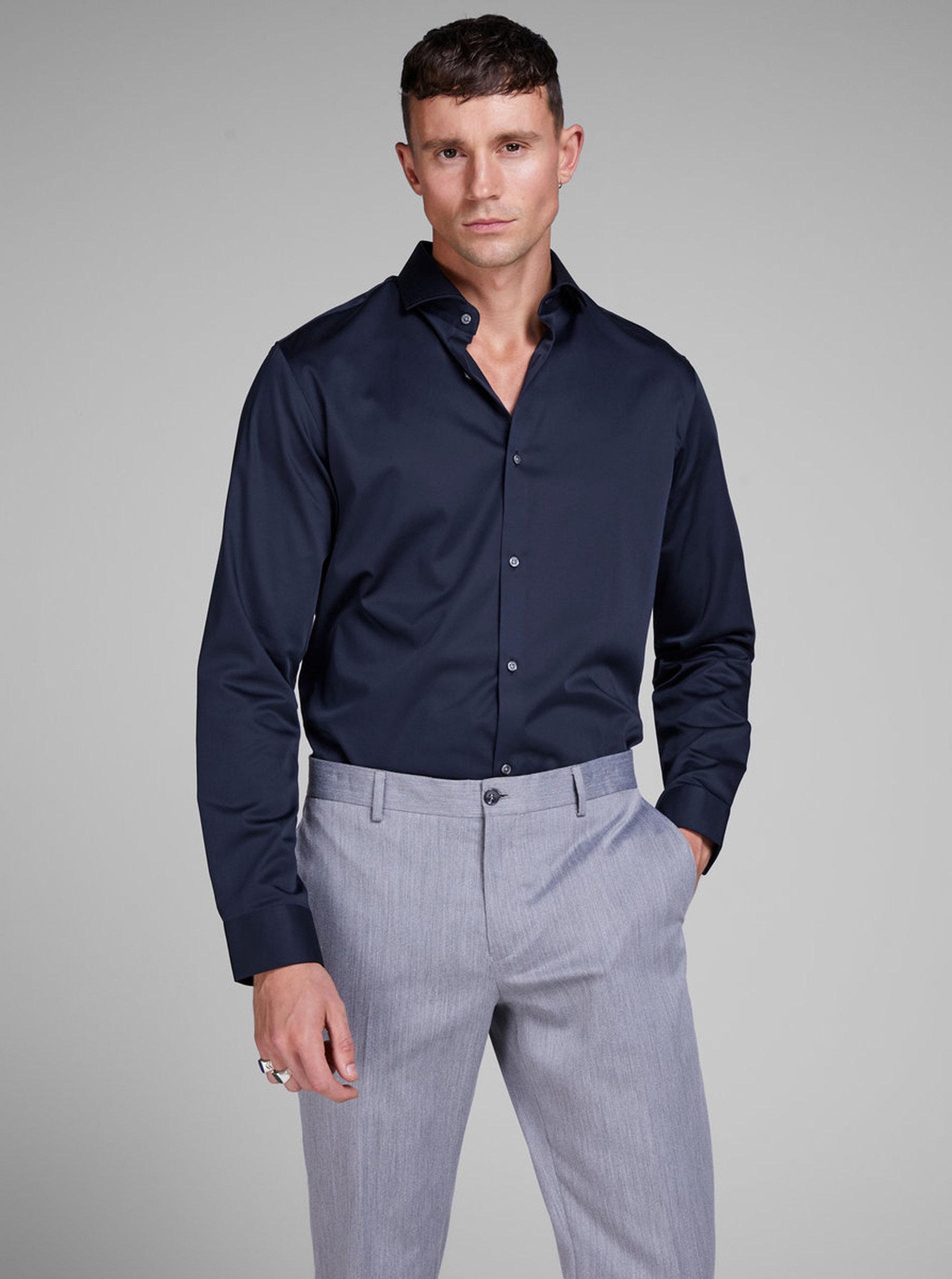 Tmavě modrá comfort fit košile Jack & Jones Comfort