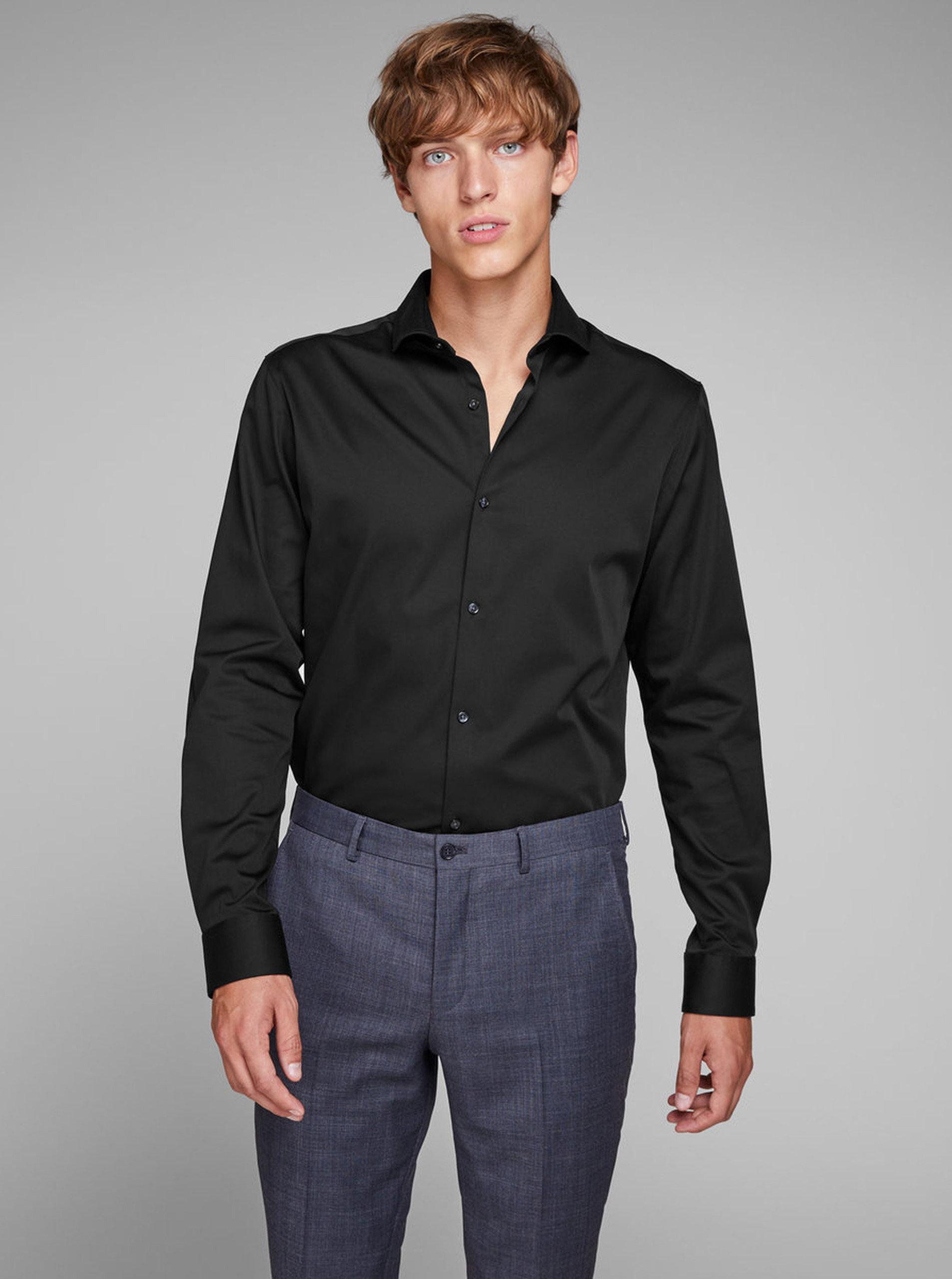 Černá comfort fit košile Jack & Jones Comfort