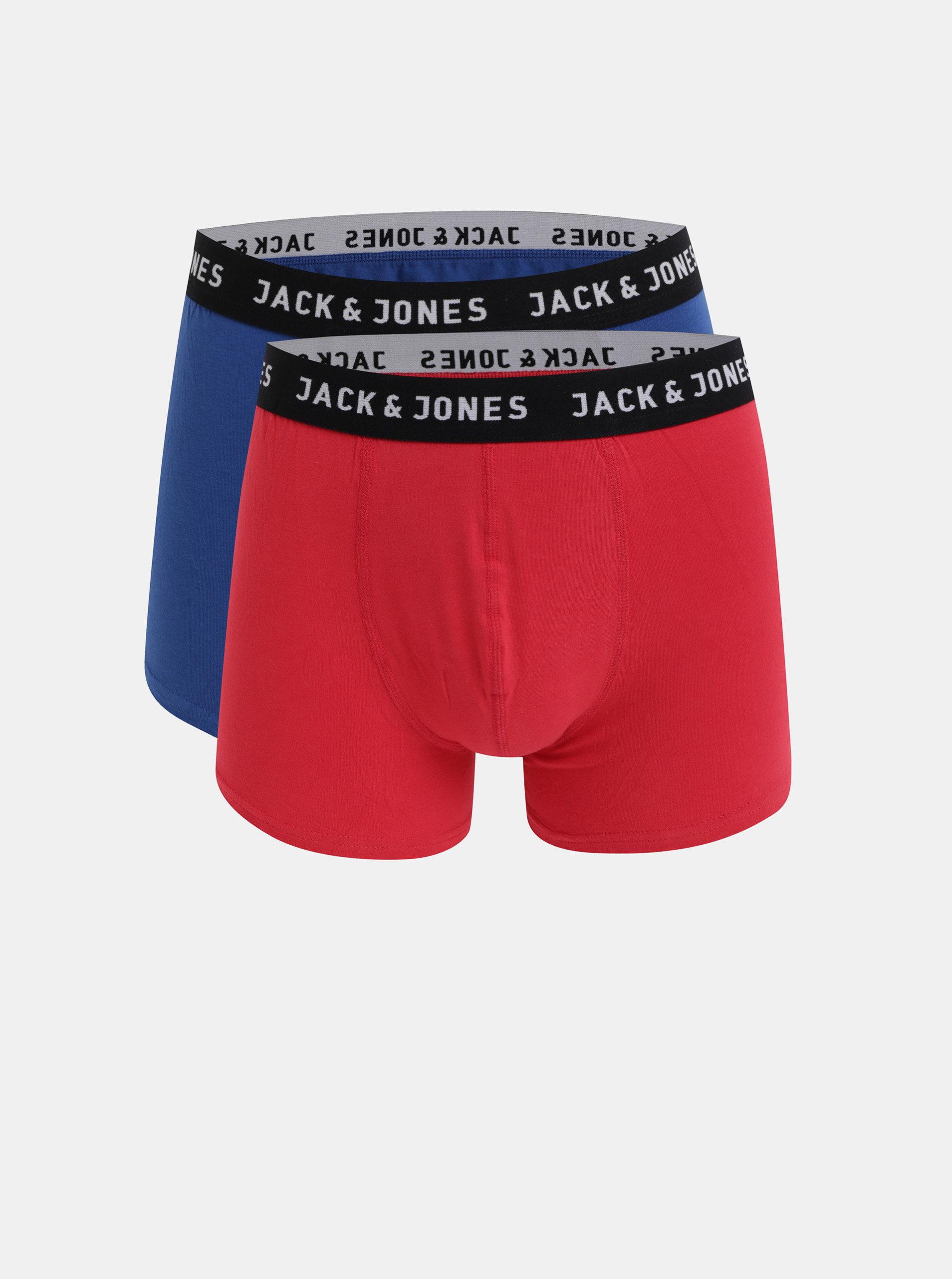 Sada dvou boxerek v modré a červené barvě Jack & Jones