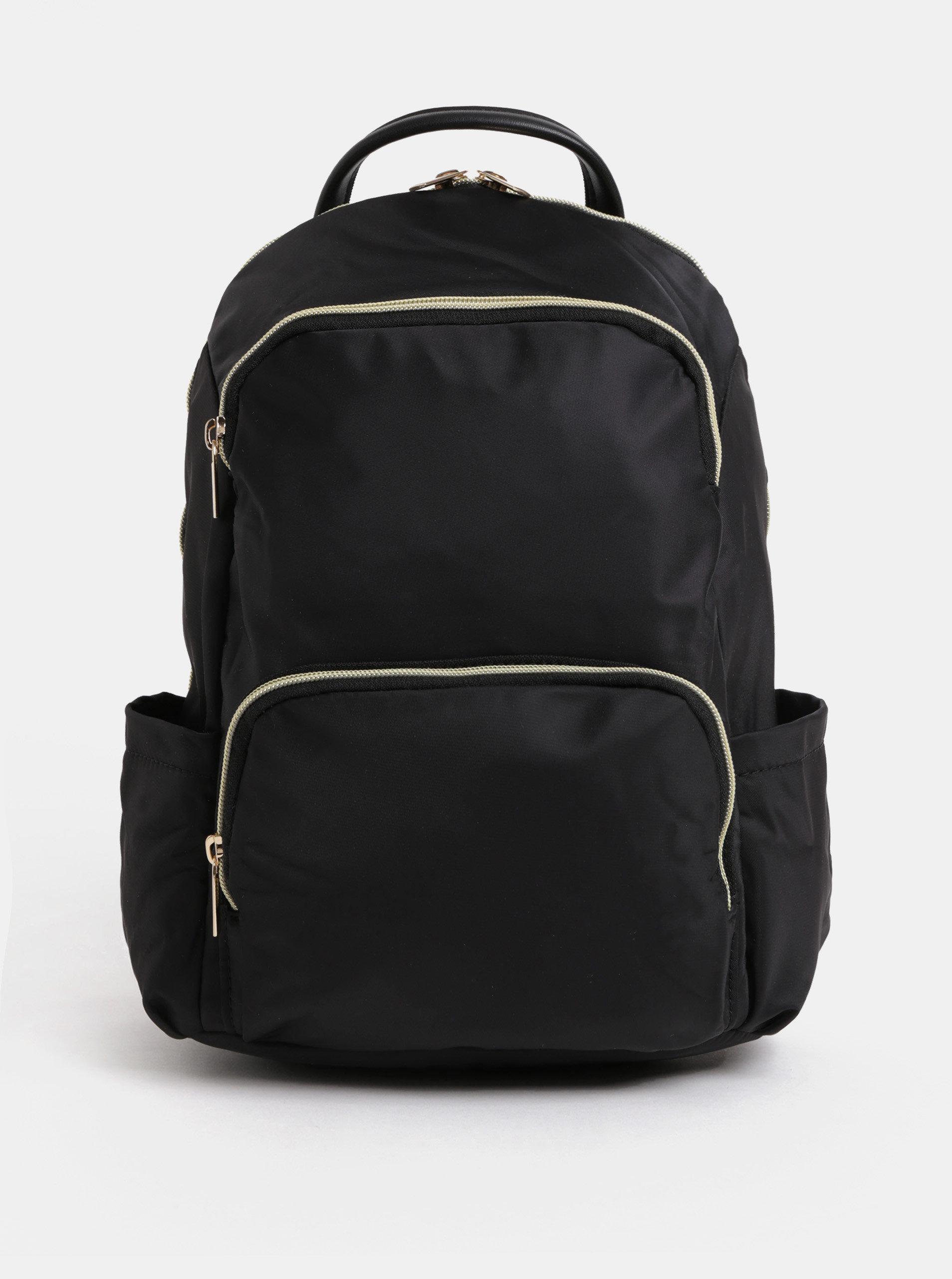 Černý batoh se zipy ve zlaté barvě ZOOT ... 6fdcac8a811