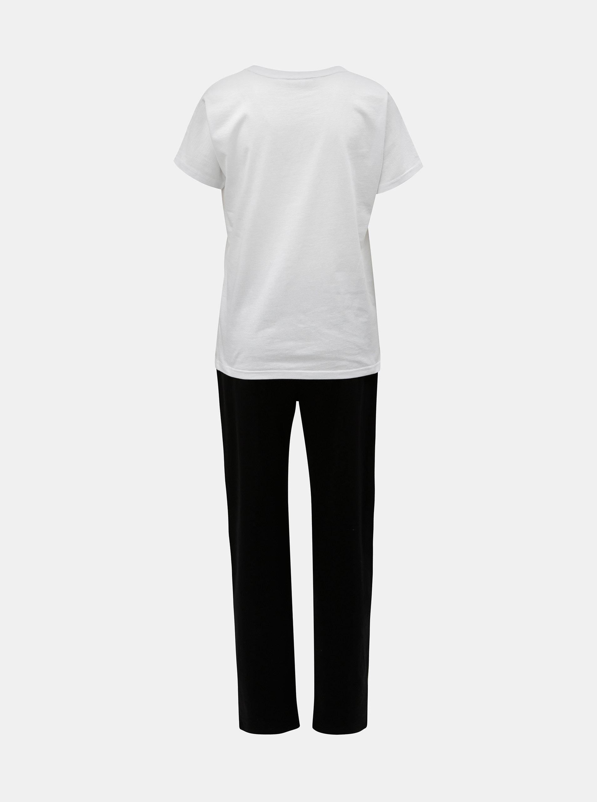 Čierno–biele dámske pyžamo s motívom mačky ZOOT ... d38d767eea4