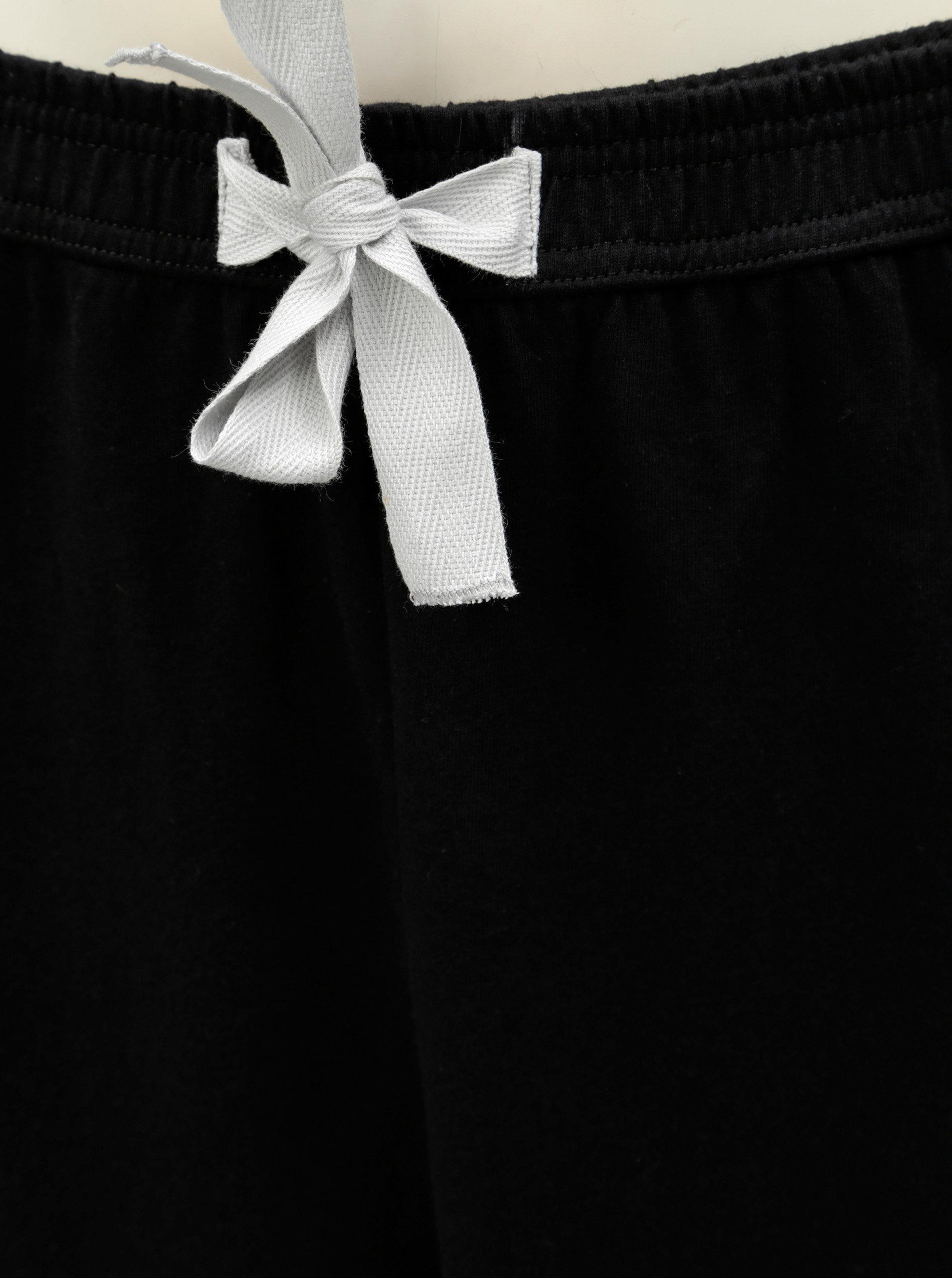 Čierno–biele dámske pyžamo s motívom mačky ZOOT ... b898ea514a1