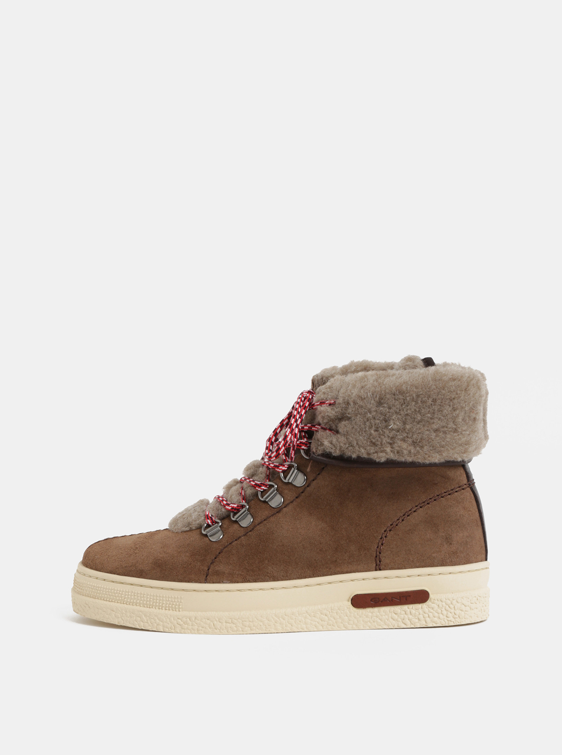 9d1bff7f46d2 Dámske kožené členkové zimné topánky GANT ...