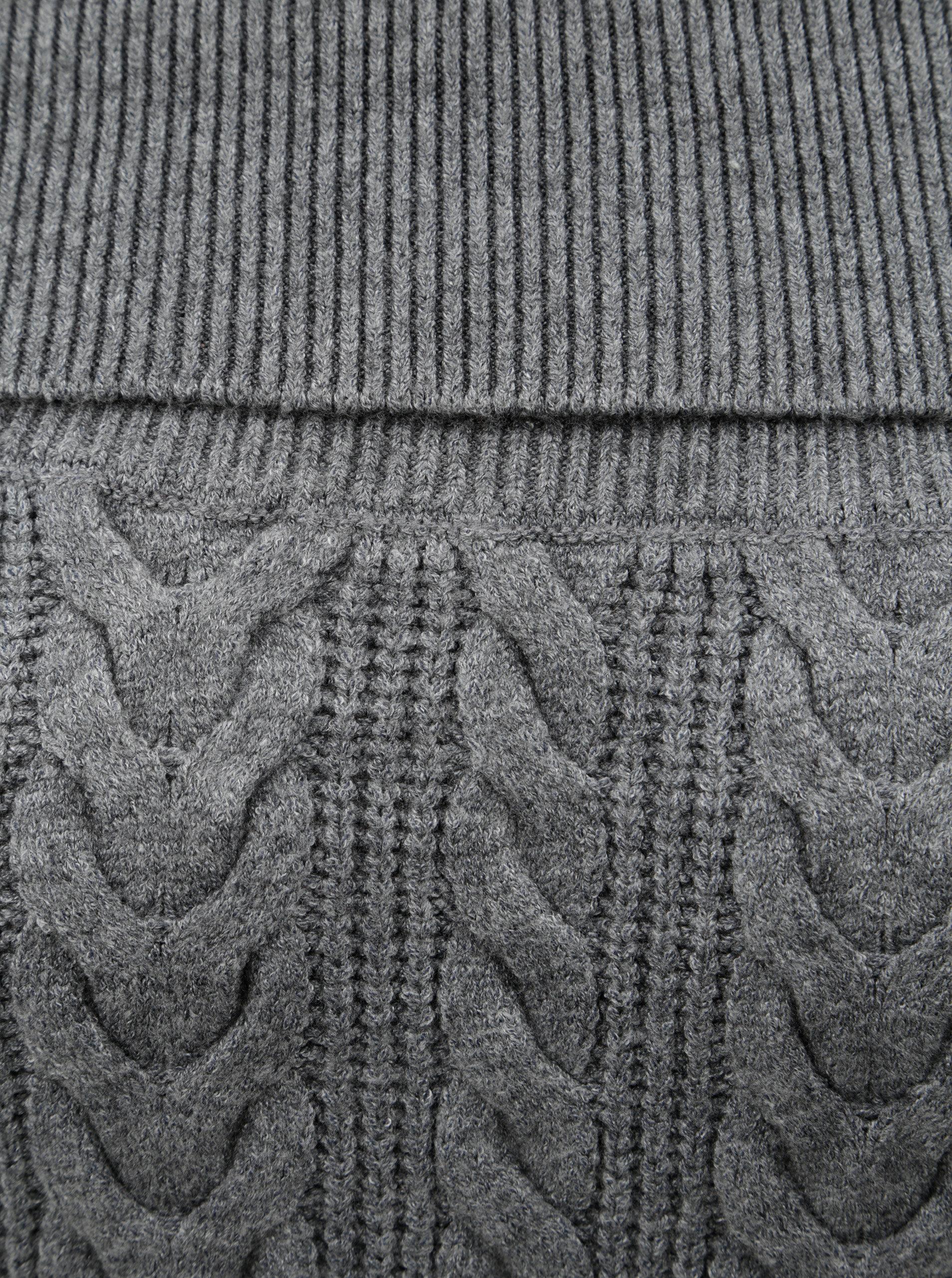 Šedý svetr s plastickým vzorem VERO MODA Jina ... 02739ff0ed