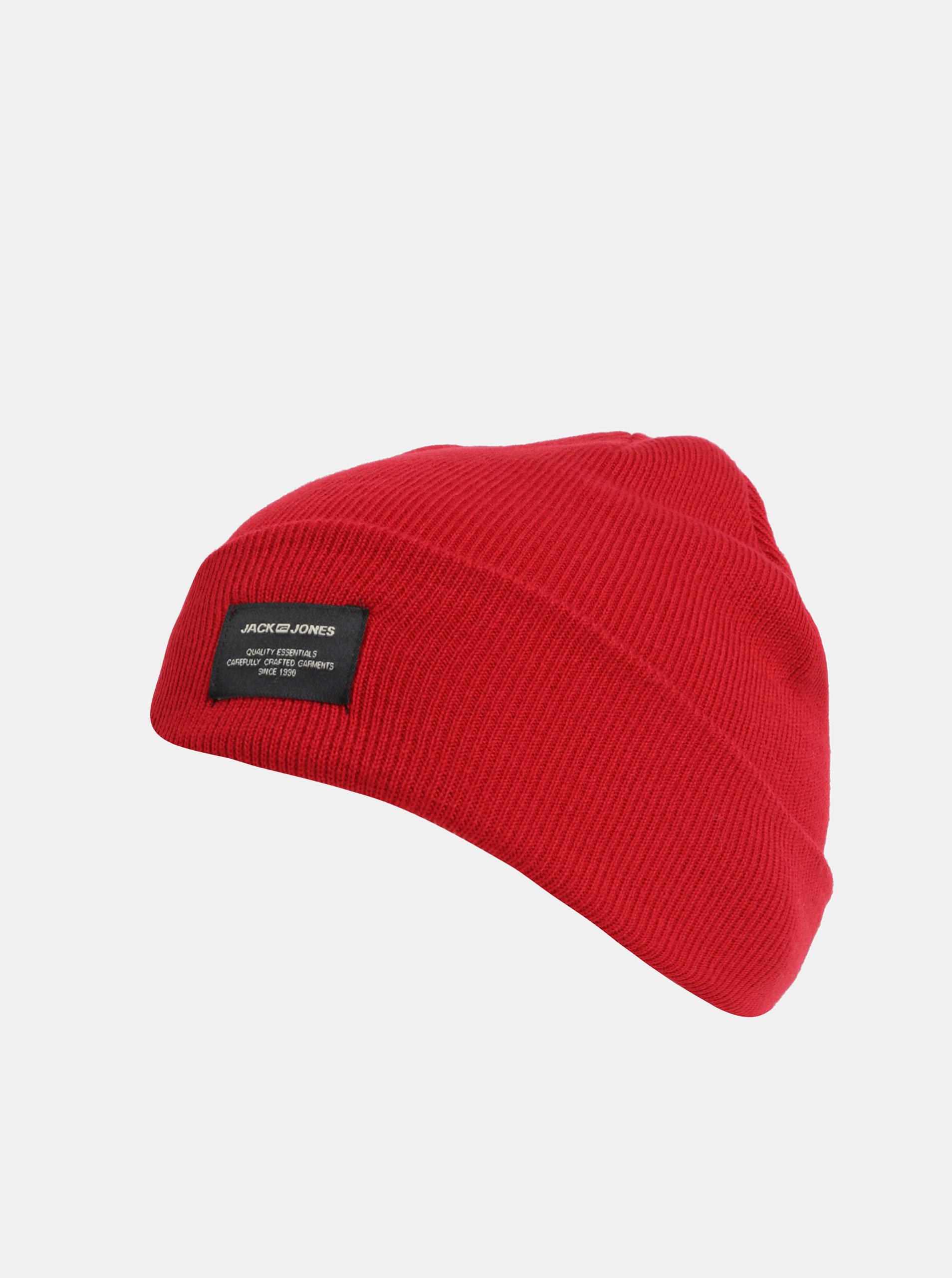 ad89c3348 Červená pletená zimná čiapka Jack & Jones DNA   ZOOT.sk