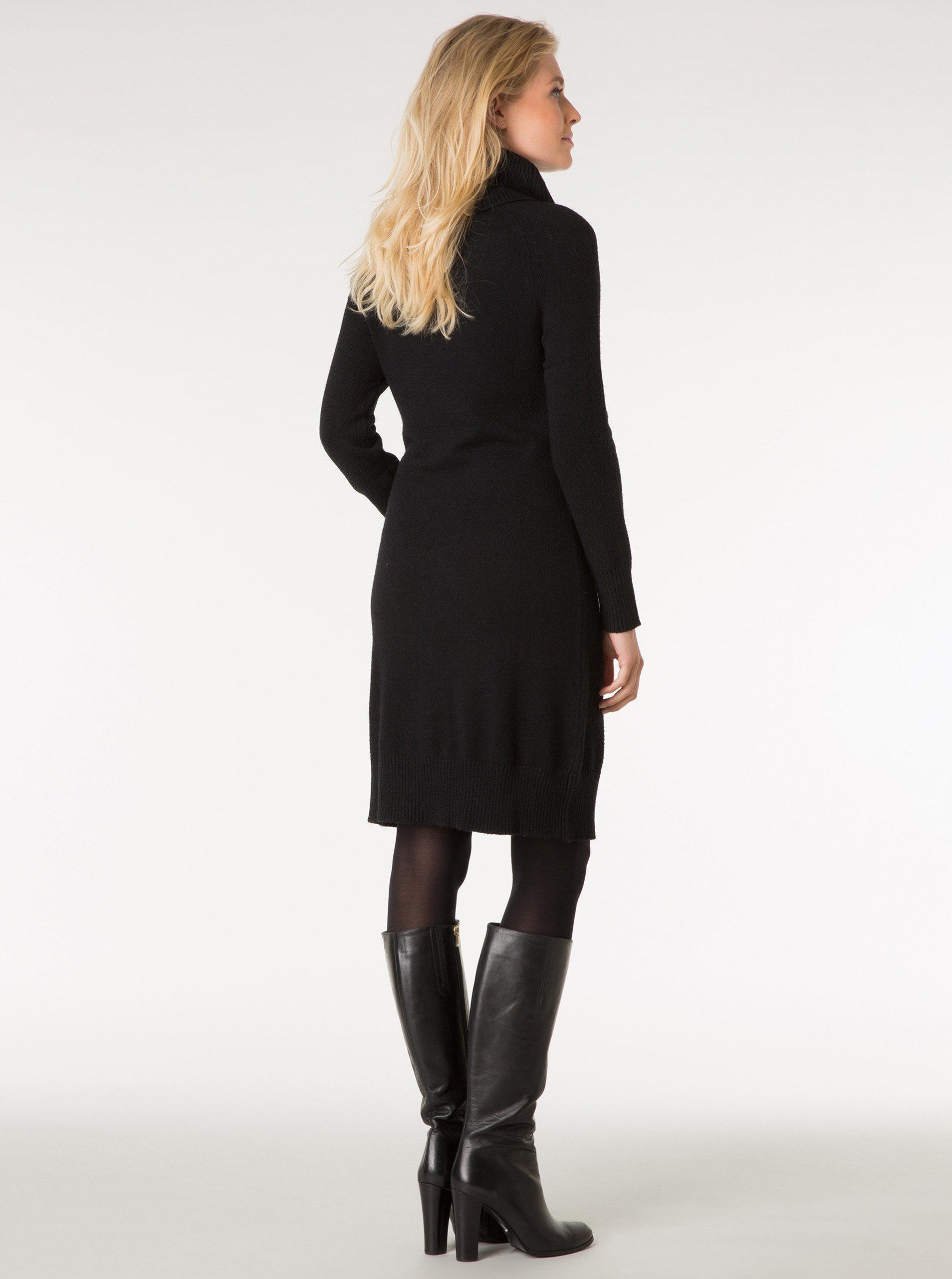 Černé svetrové šaty s rolákem Yest ... 974110c4aa0