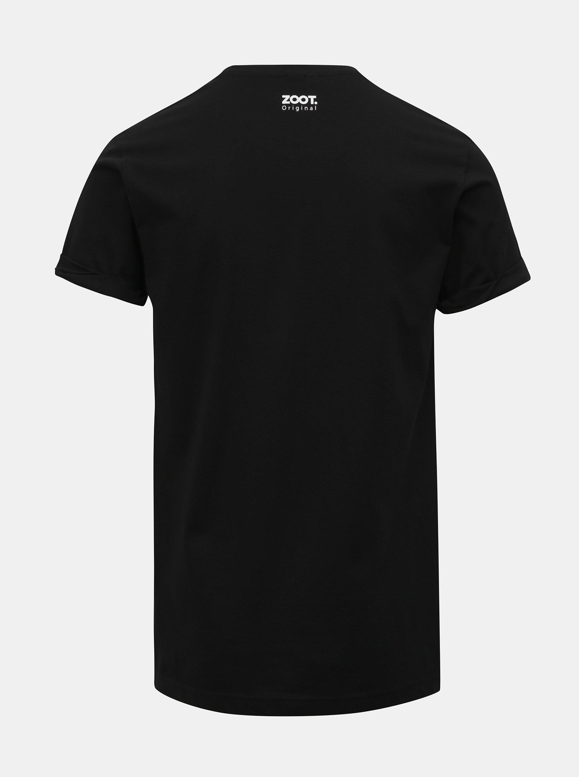 4f28bdefed1c Černé pánské tričko s potiskem ZOOT Original Follow me ...