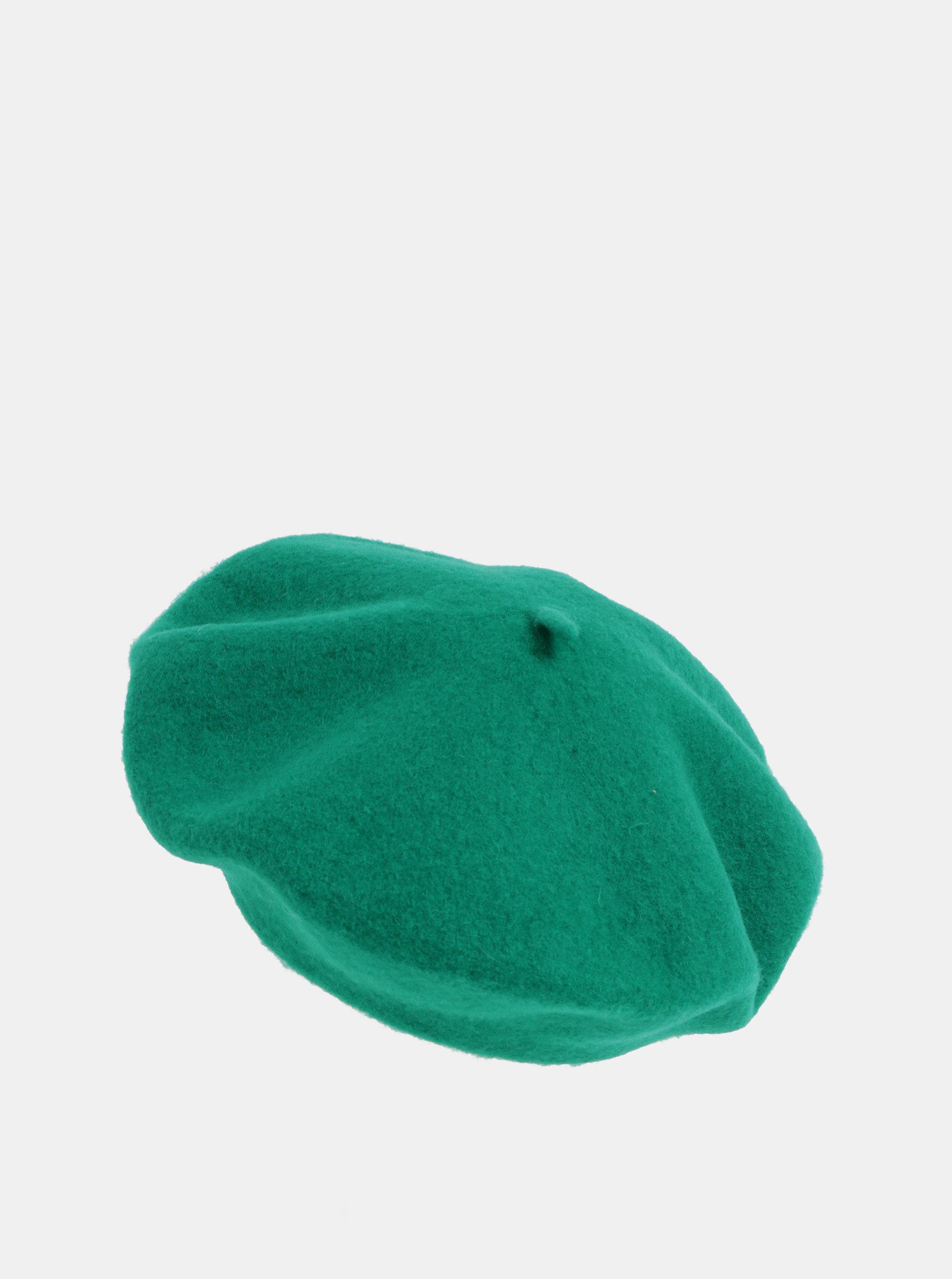 d947e76d4 Zelená vlnená baretka Pieces French | ZOOT.sk