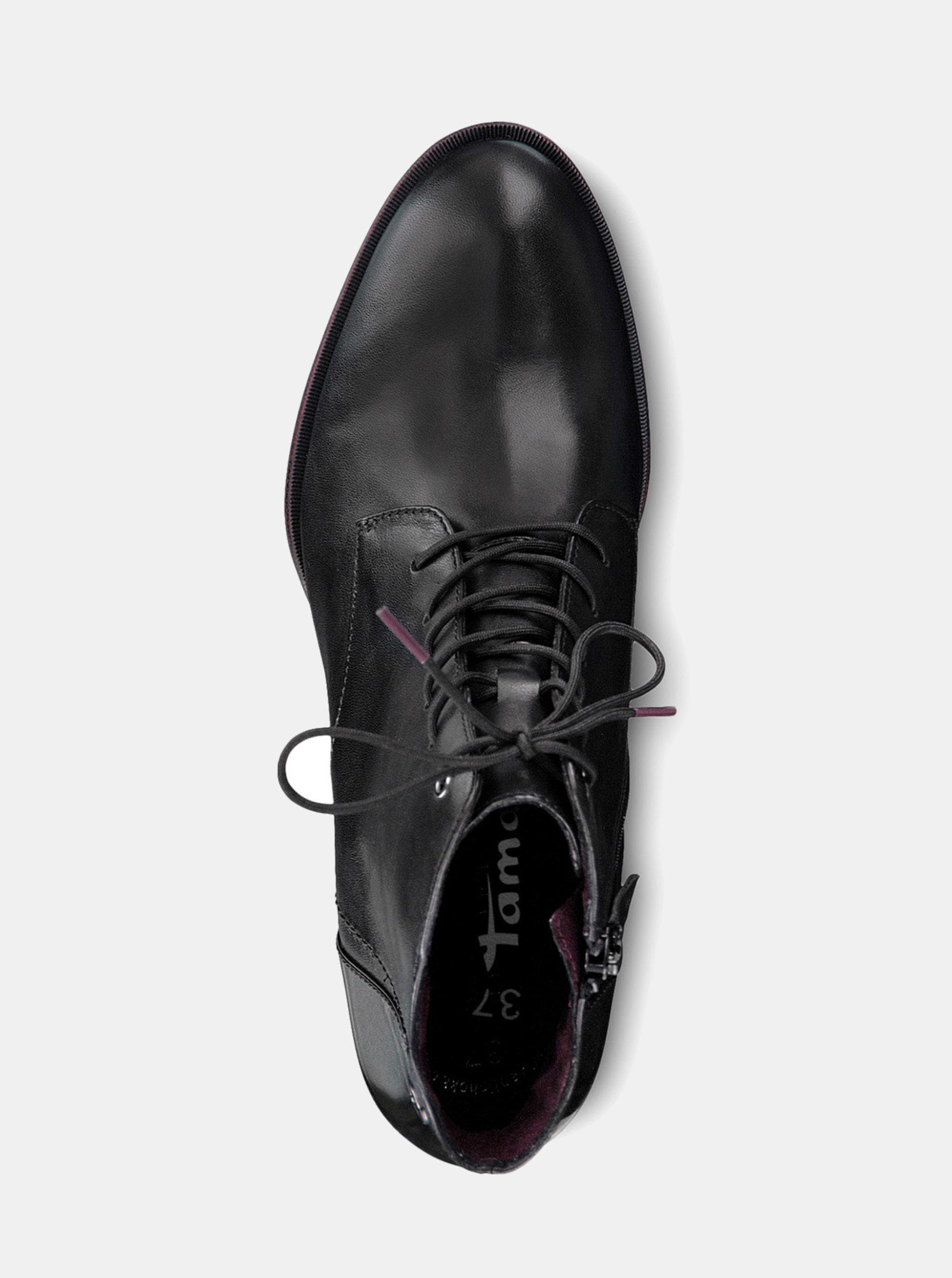 Čierne kožené členkové topánky Tamaris ... 147f8639e83