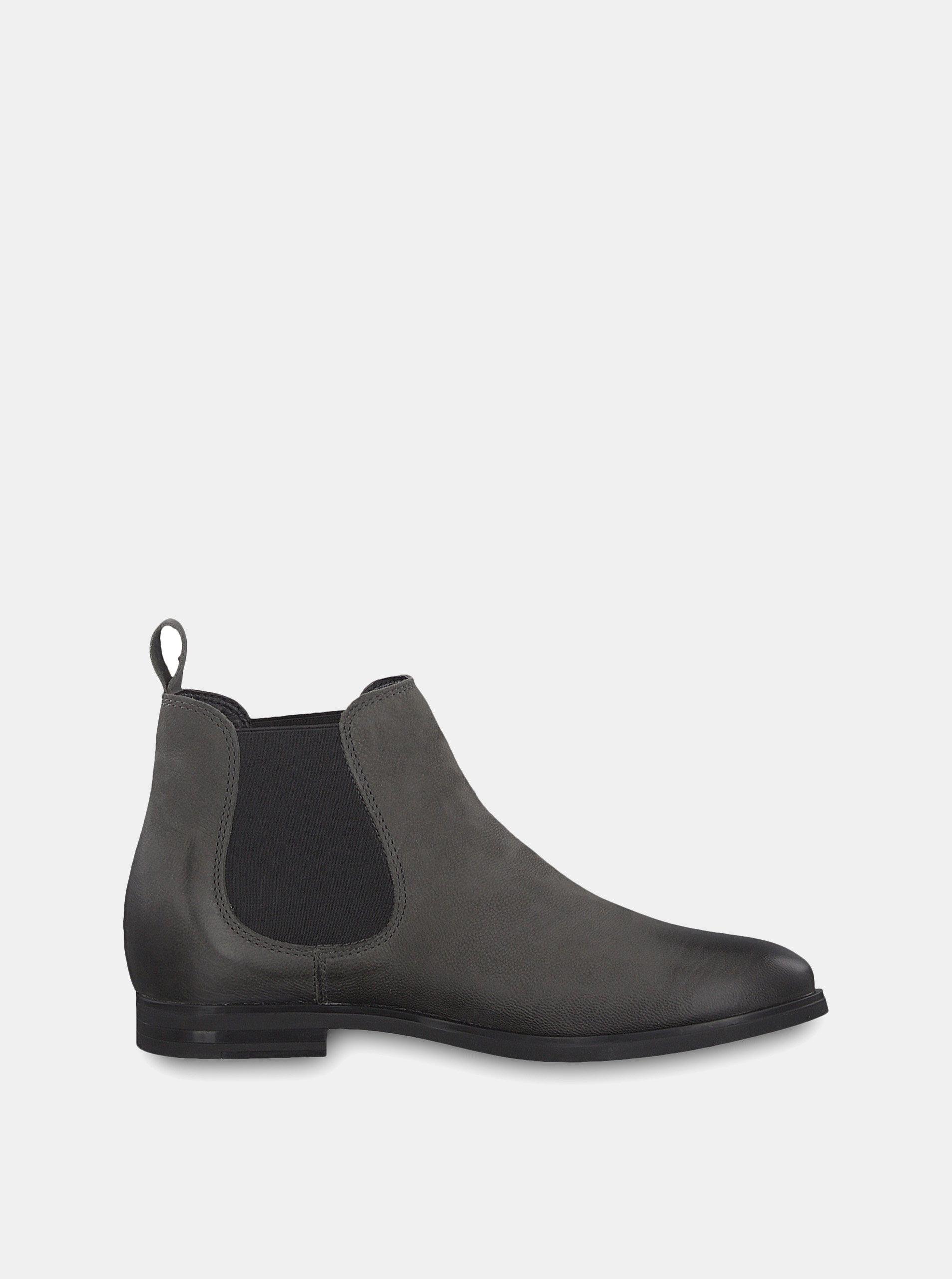 c97e41ea1d66 Sivé kožené chelsea topánky Tamaris ...