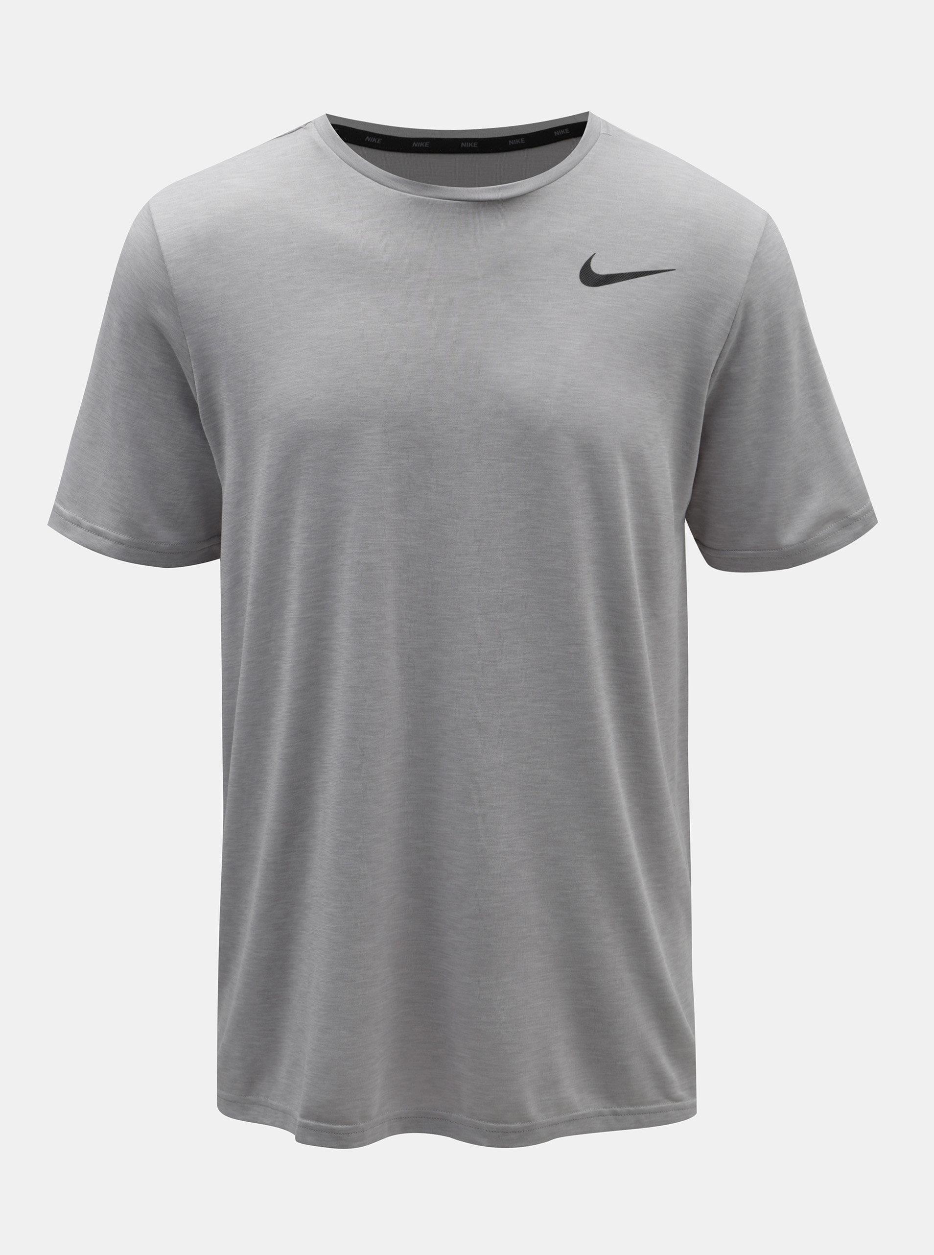 Sivé pánske melírované tričko Nike ... 5c7ca60ce1