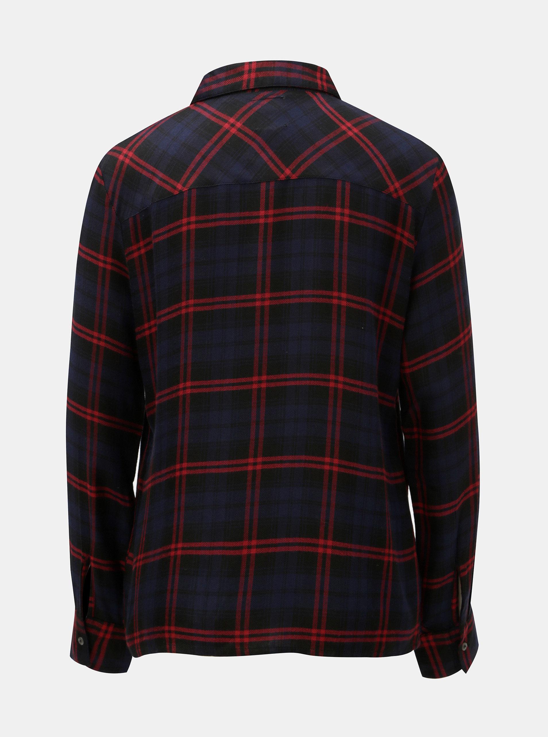 bb27efa738 Červeno–modrá károvaná košeľa ONLY ...