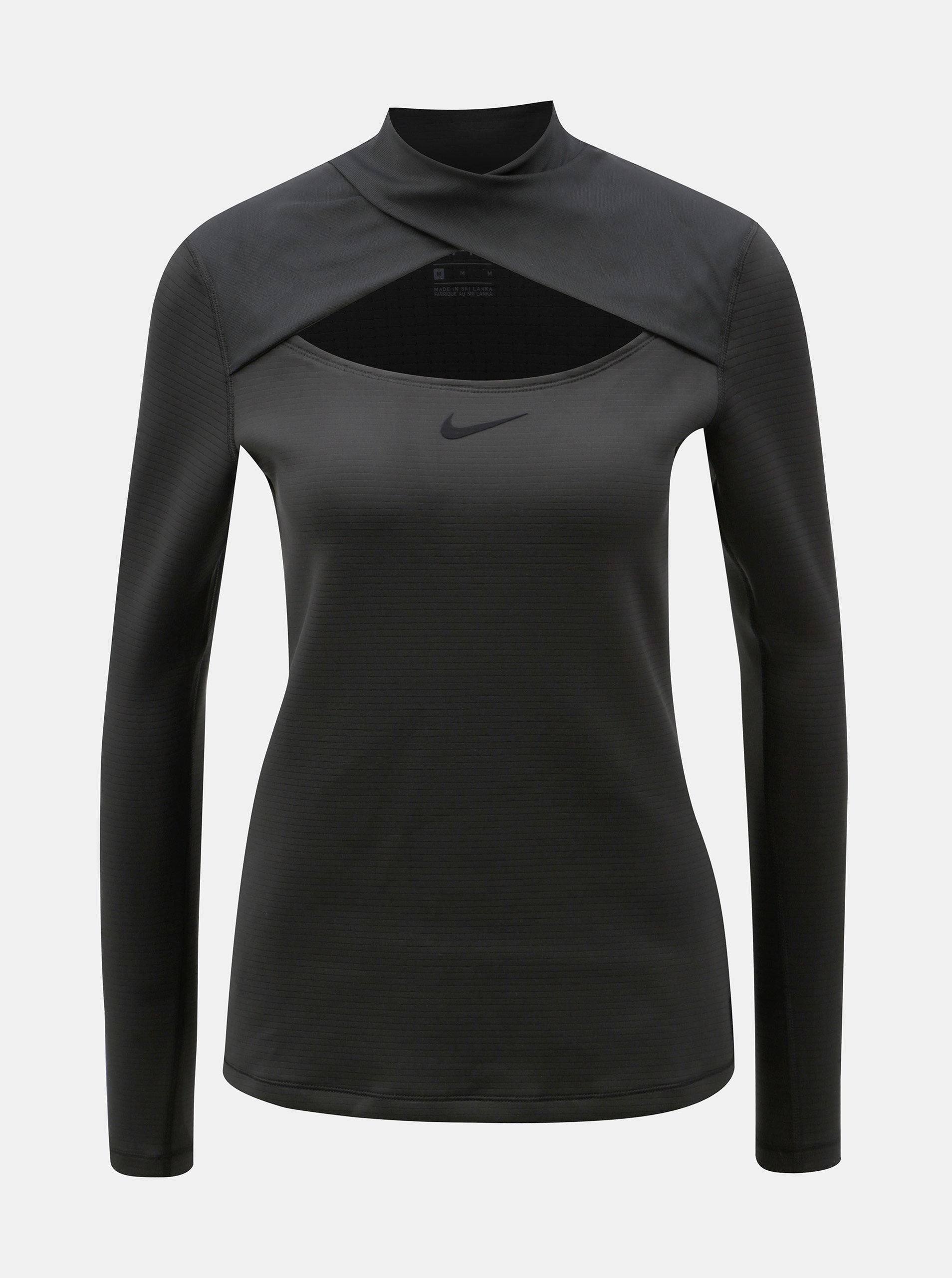 6492b3ef2 Čierne dámske funkčné tričko s prestrihom Nike   ZOOT.sk