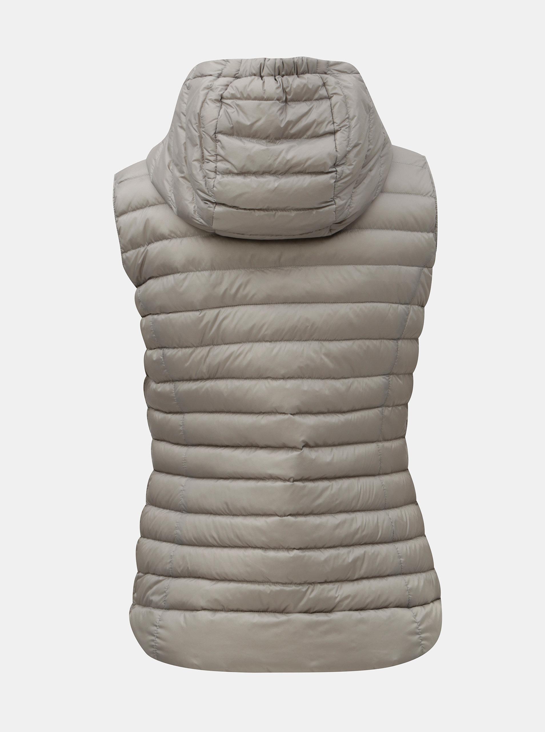 9c29b66da Sivá dámska prešívaná tenká páperová vesta s kapucňou Geox | ZOOT.sk