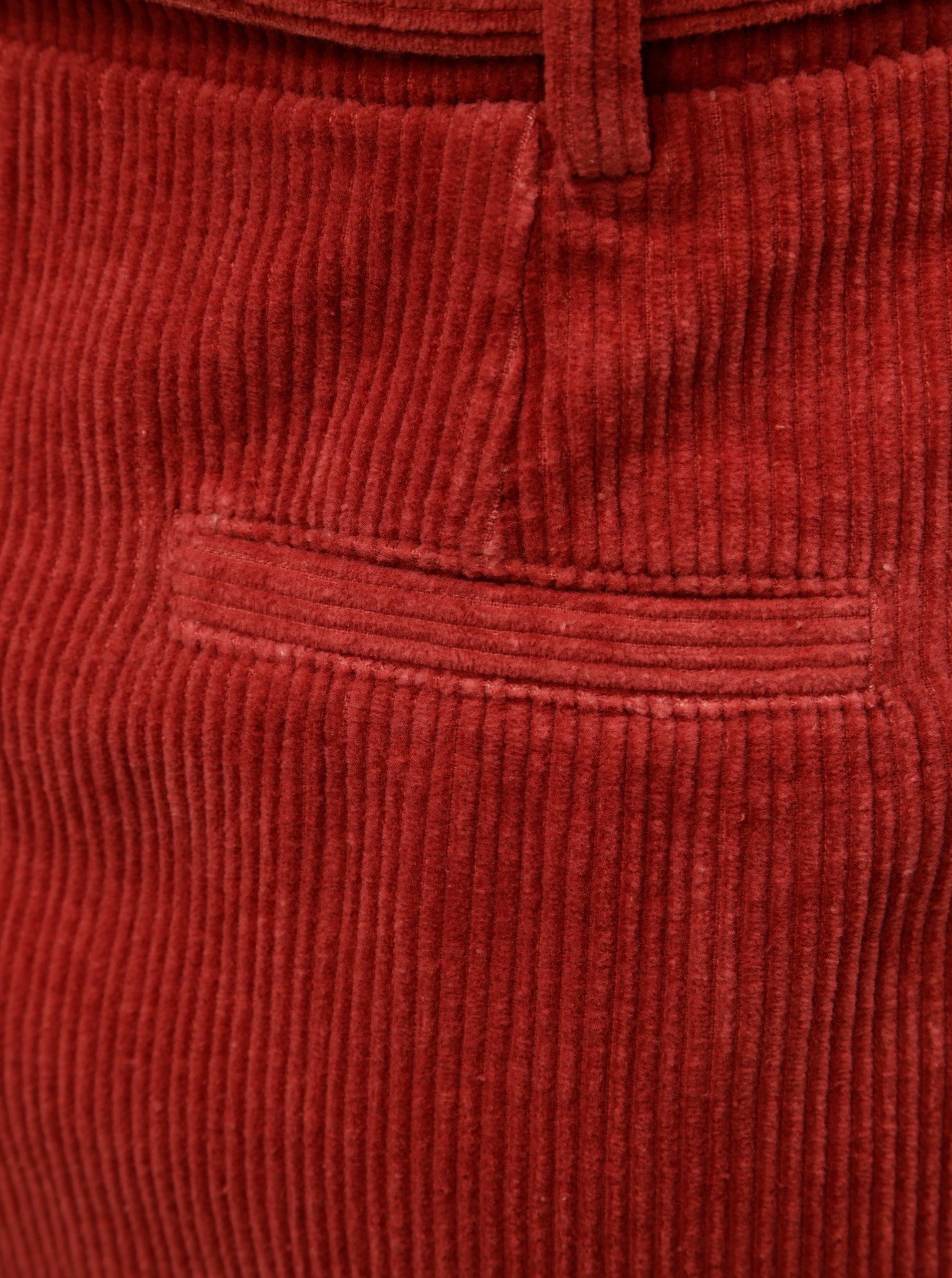 acd3508df520 Červená manšestrová sukně s mašlí ONLY Cord ...