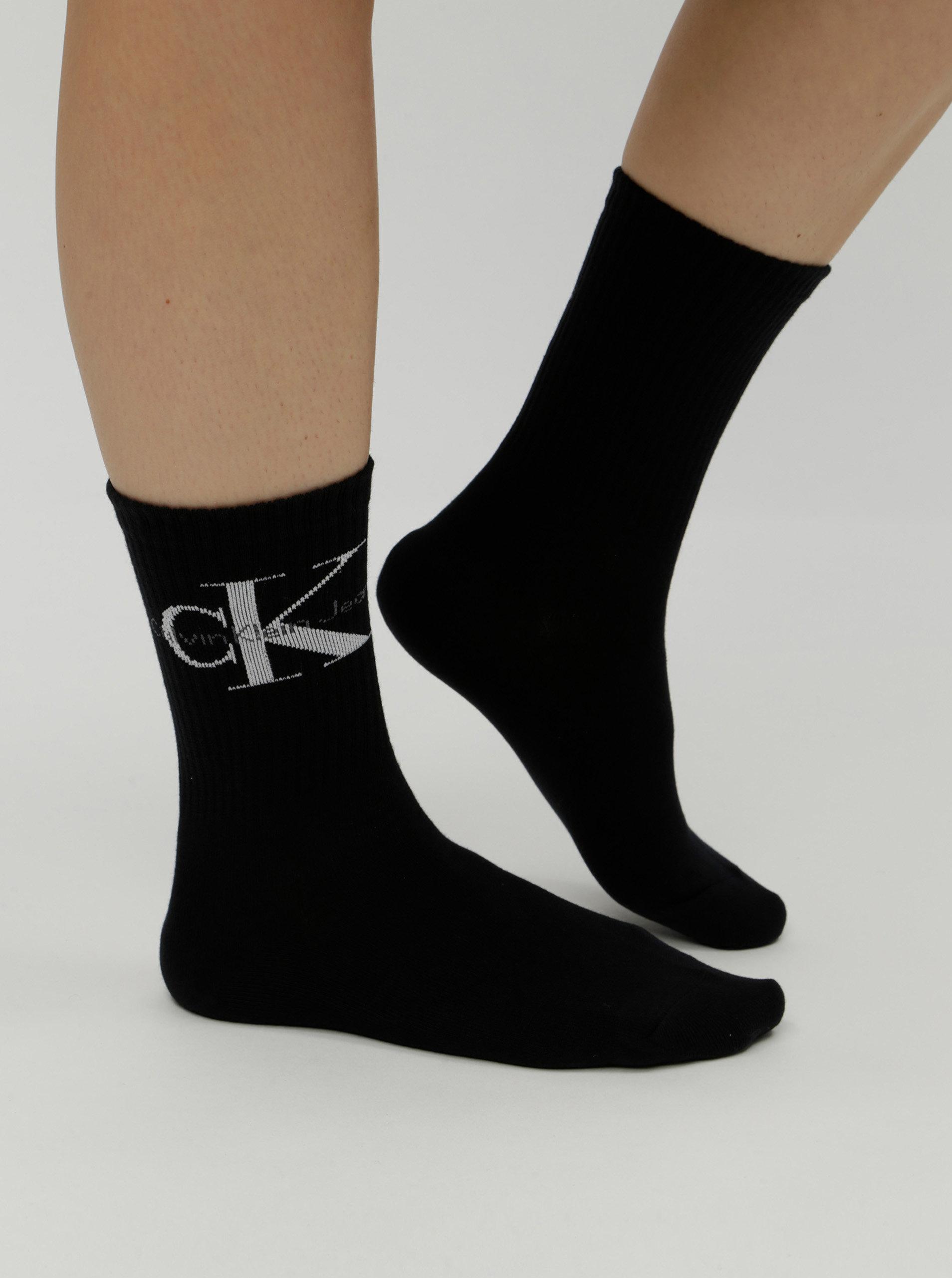 d5e02fe1850 Čierne dámske ponožky s motívom Calvin Klein Jeans ...