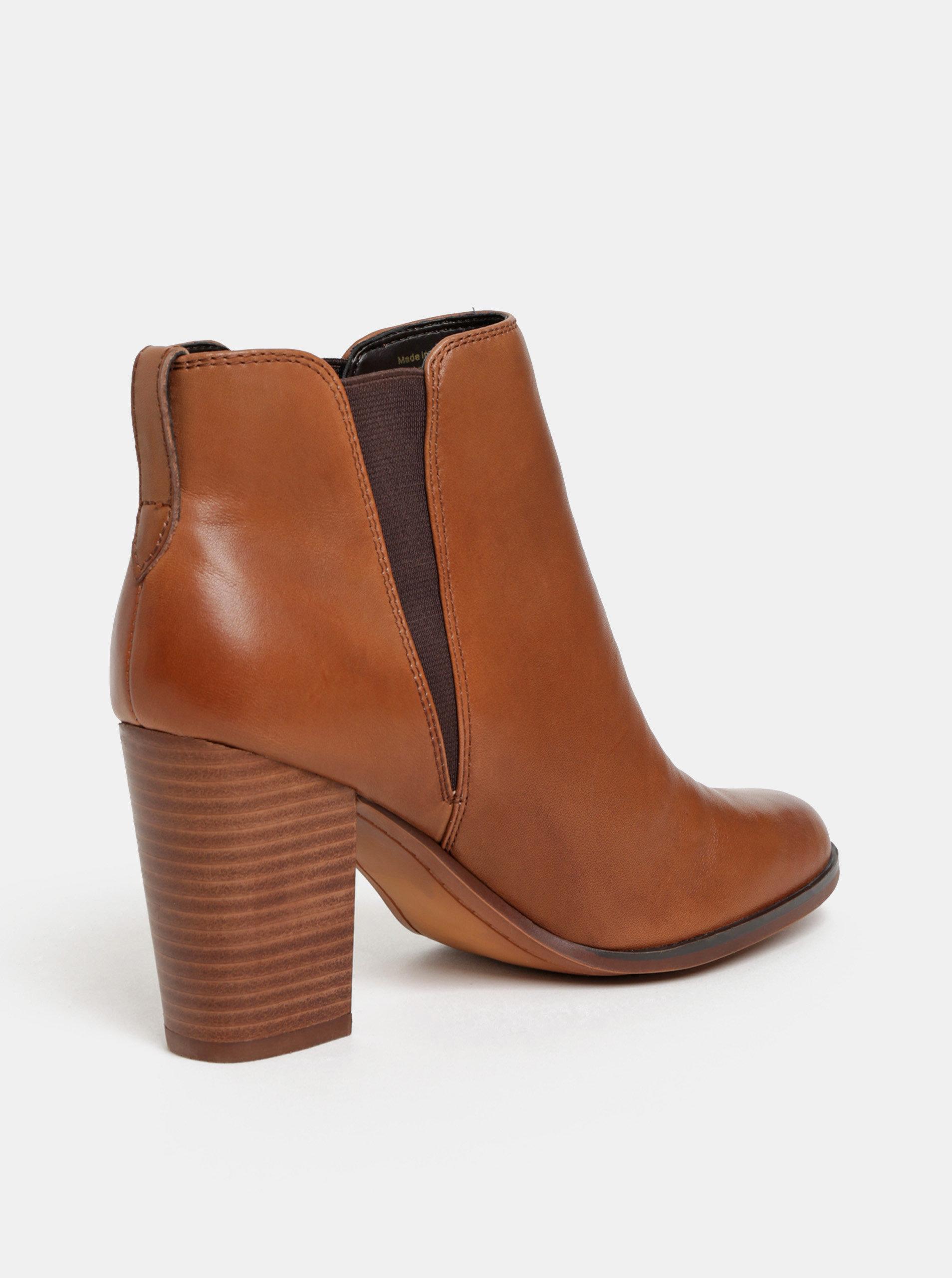 Hnědé dámské kožené chelsea boty ALDO Pessa ... 2ed236f410