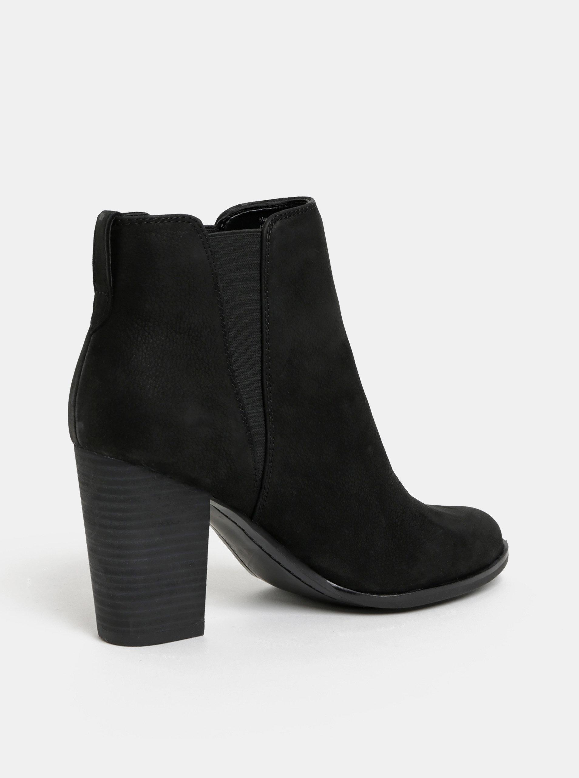 Černé dámské kožené chelsea boty ALDO Pessa ... ff48702361