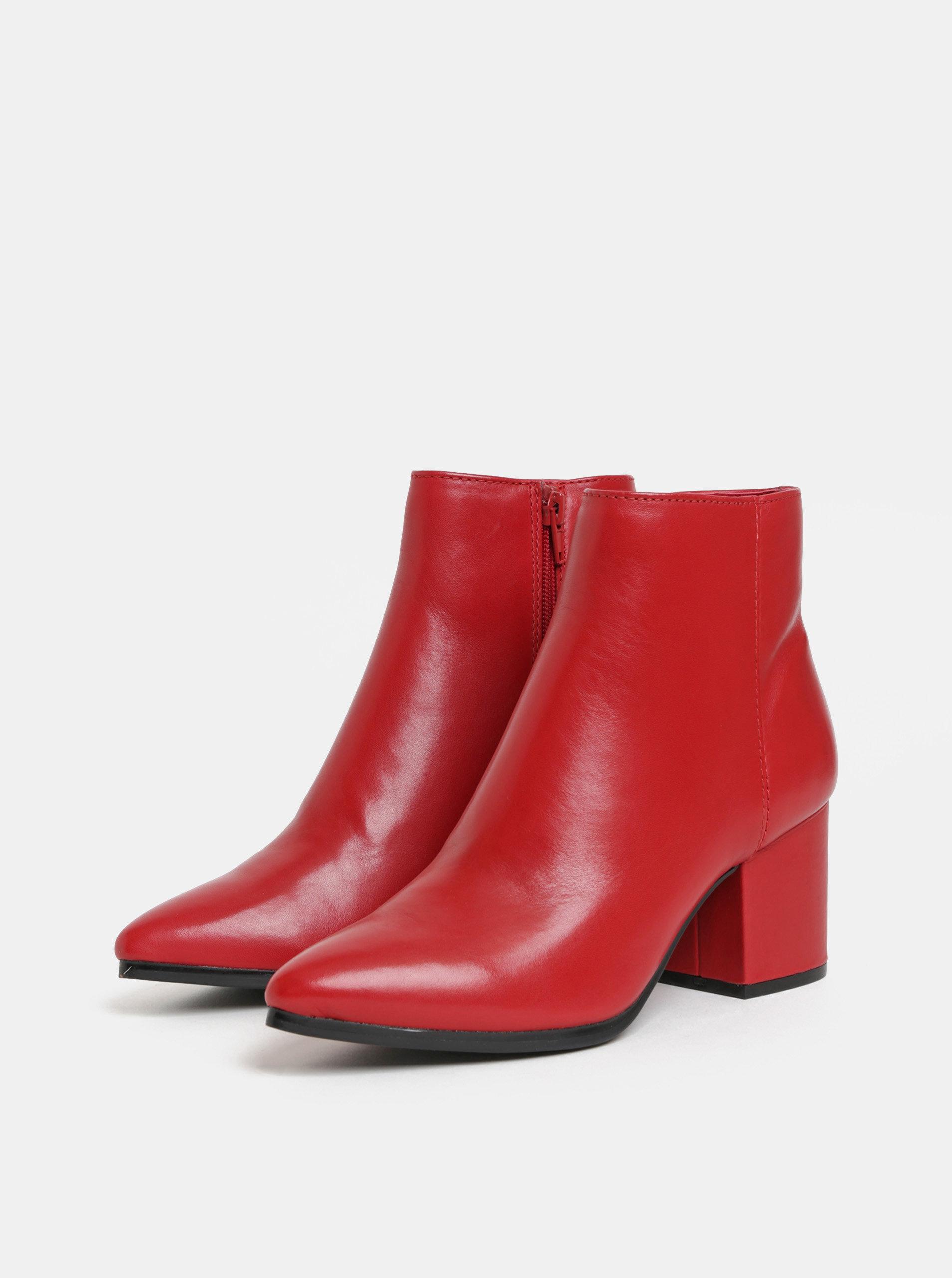 5e05e92fffc30 Červené dámske kožené členkové topánky ALDO Fralissi | ZOOT.sk