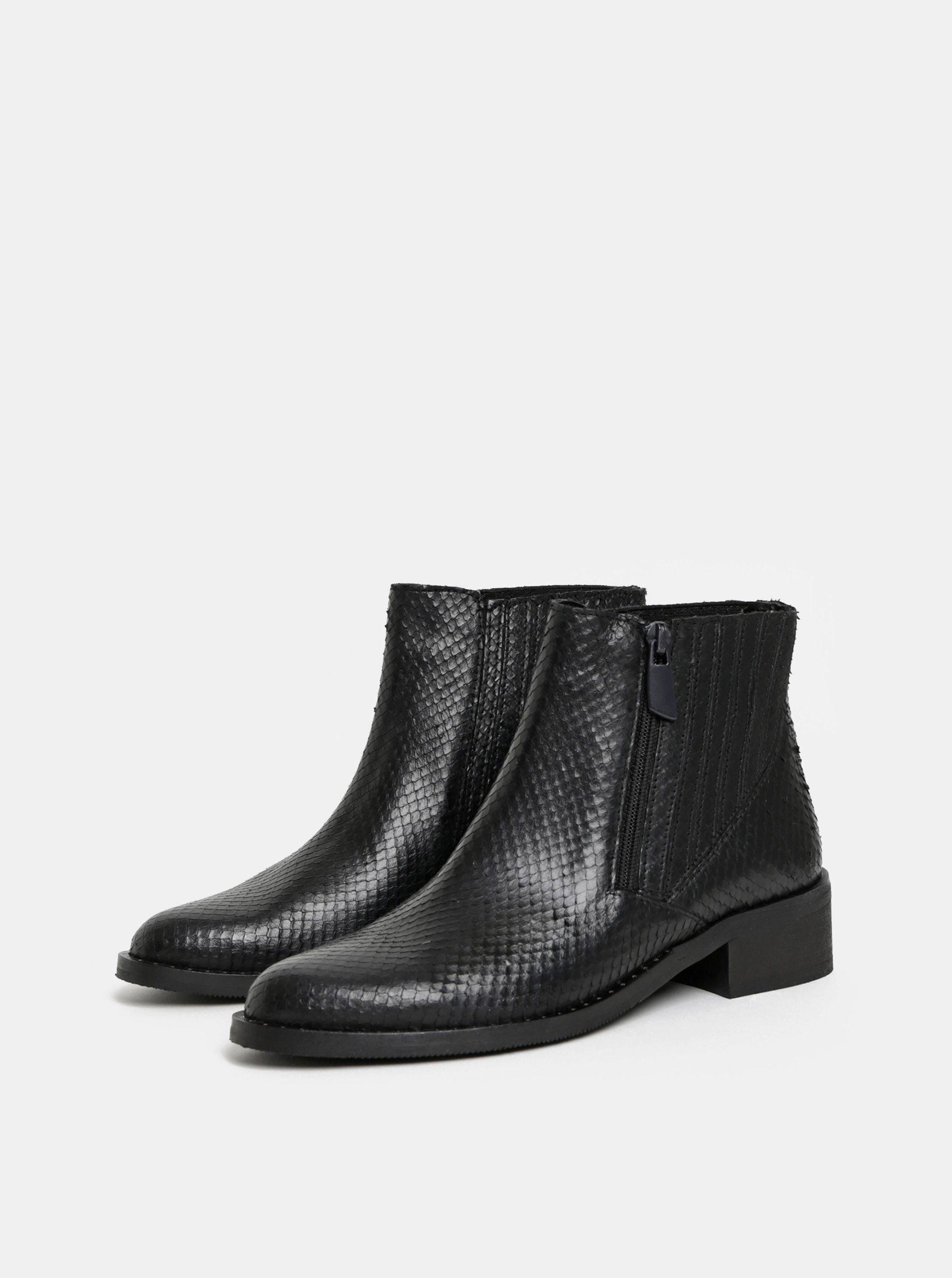 466ae9987abf5 Čierne dámske kožené chelsea topánky ALDO Lovigocia   ZOOT.sk