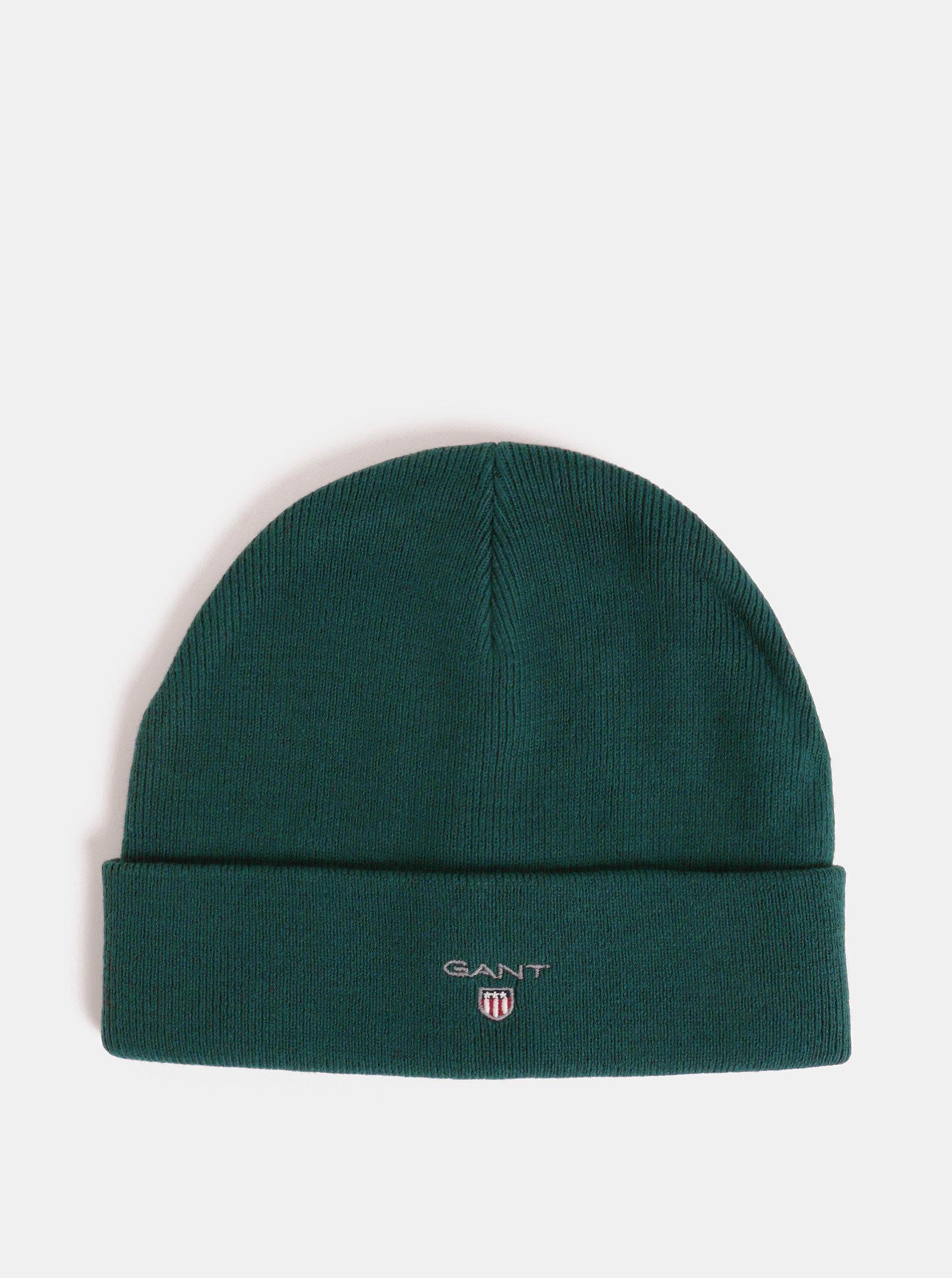 c96a27ceb32 Tmavě zelená čepice s vyšitým vzorem GANT Logo Hat ...