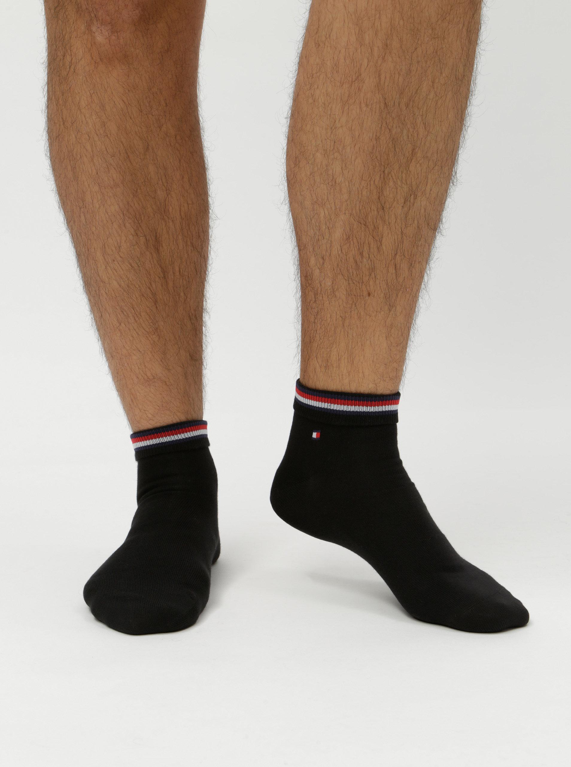 Sada dvou párů pánských kotníkových ponožek v černé barvě Tommy Hilfiger ... c7b568afd0