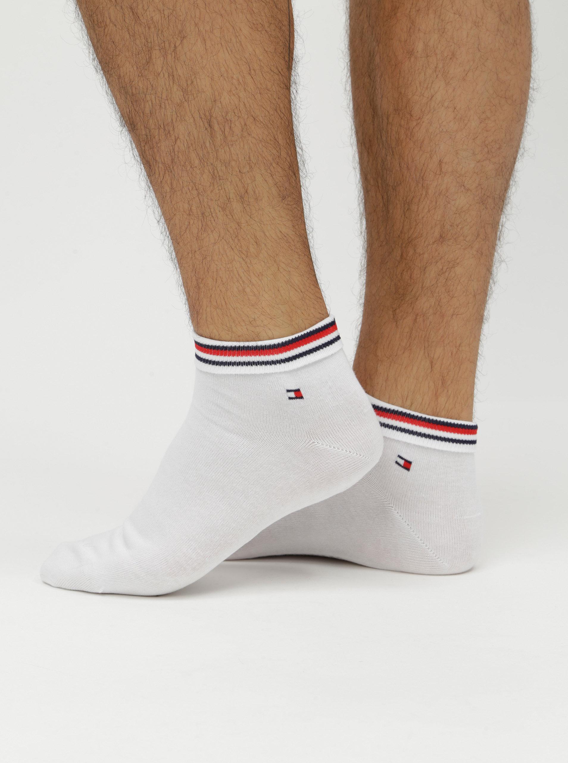 Sada dvou párů pánských kotníkových ponožek v bílé barvě Tommy Hilfiger ... 94dda3ded9