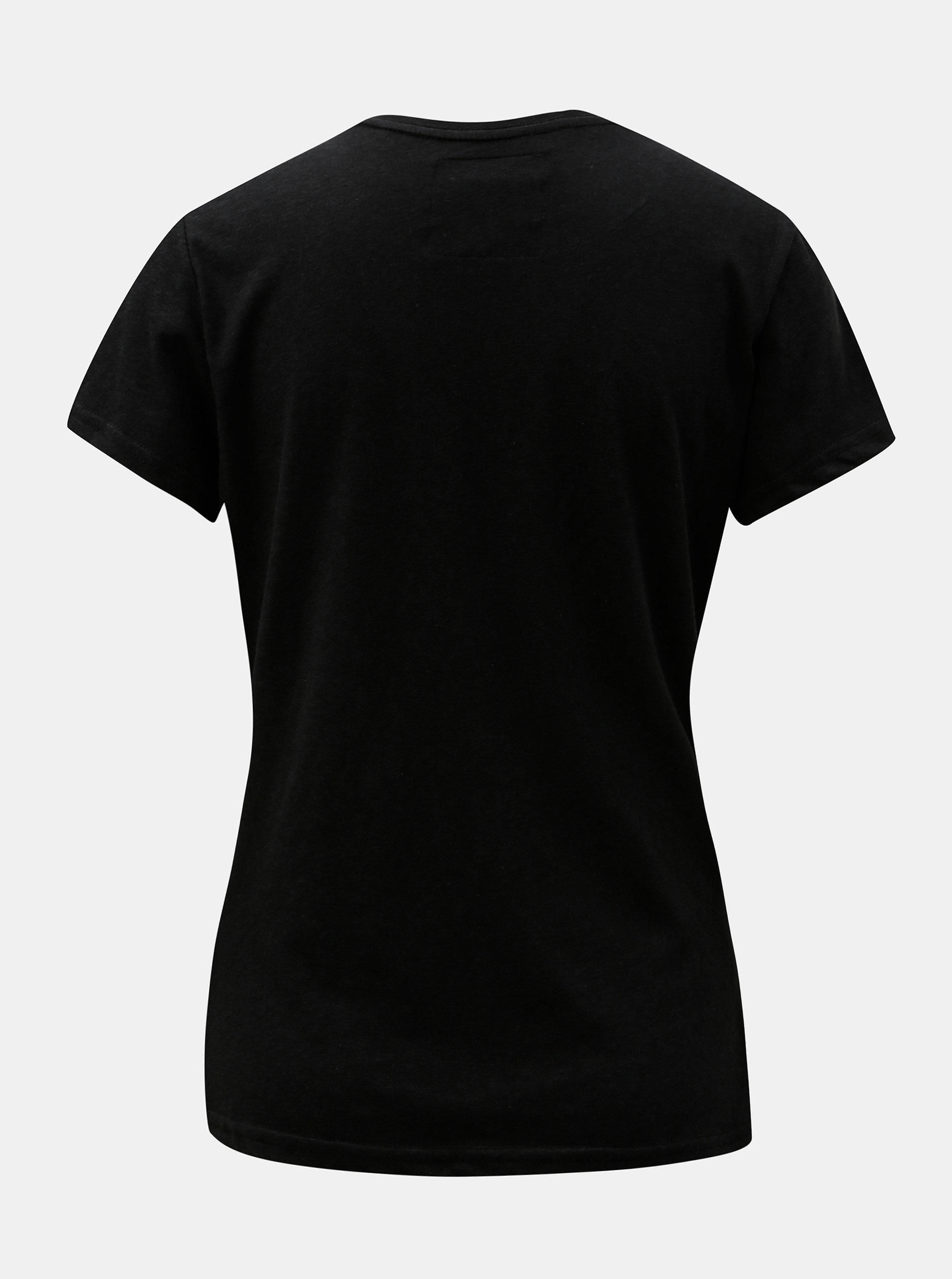 937a5e3f74bc Čierne dámske tričko s potlačou Superdry ...