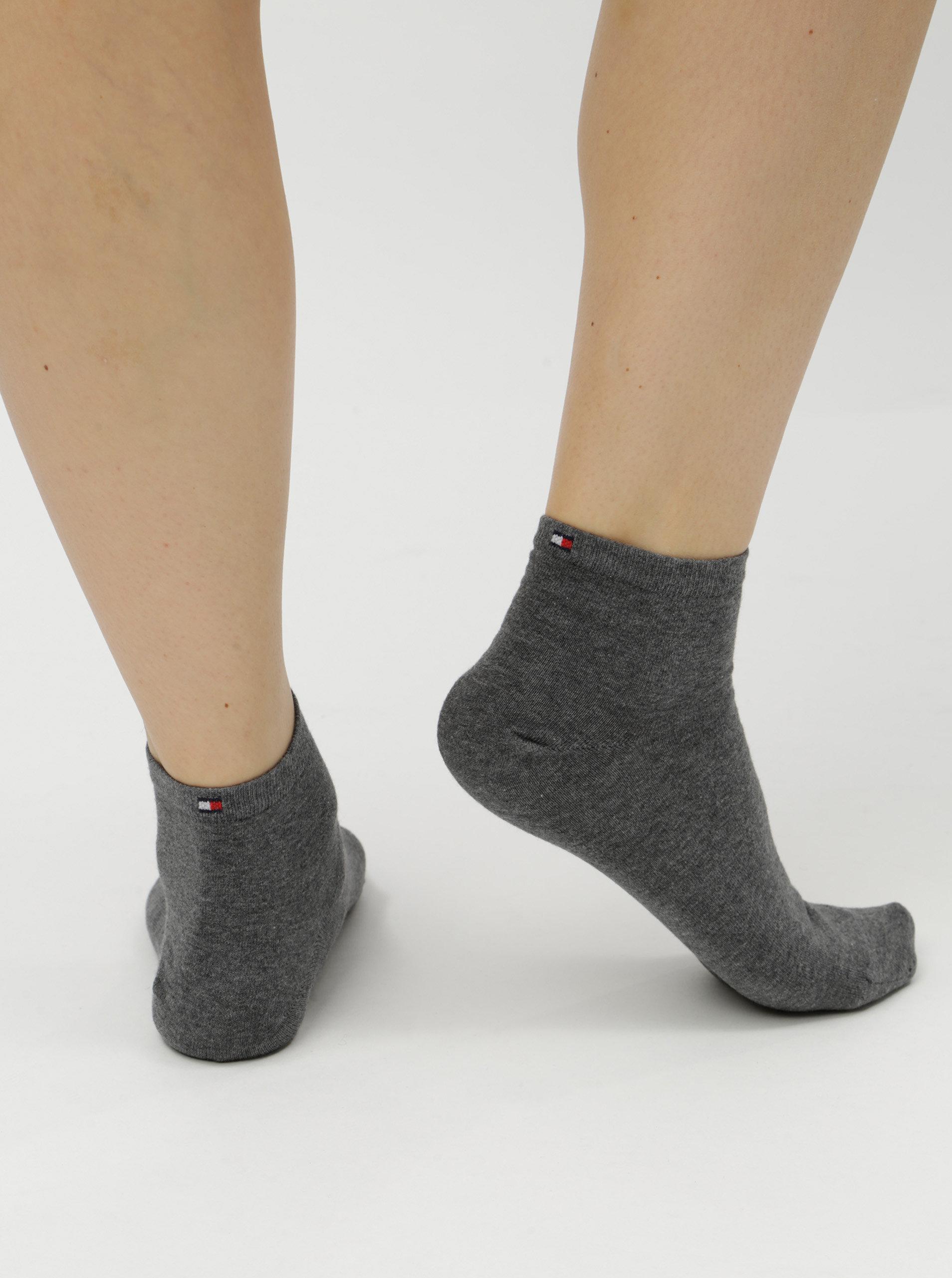 Sada dvou párů dámských kotníkových ponožek v šedé barvě Tommy Hilfiger ... 5841b30907