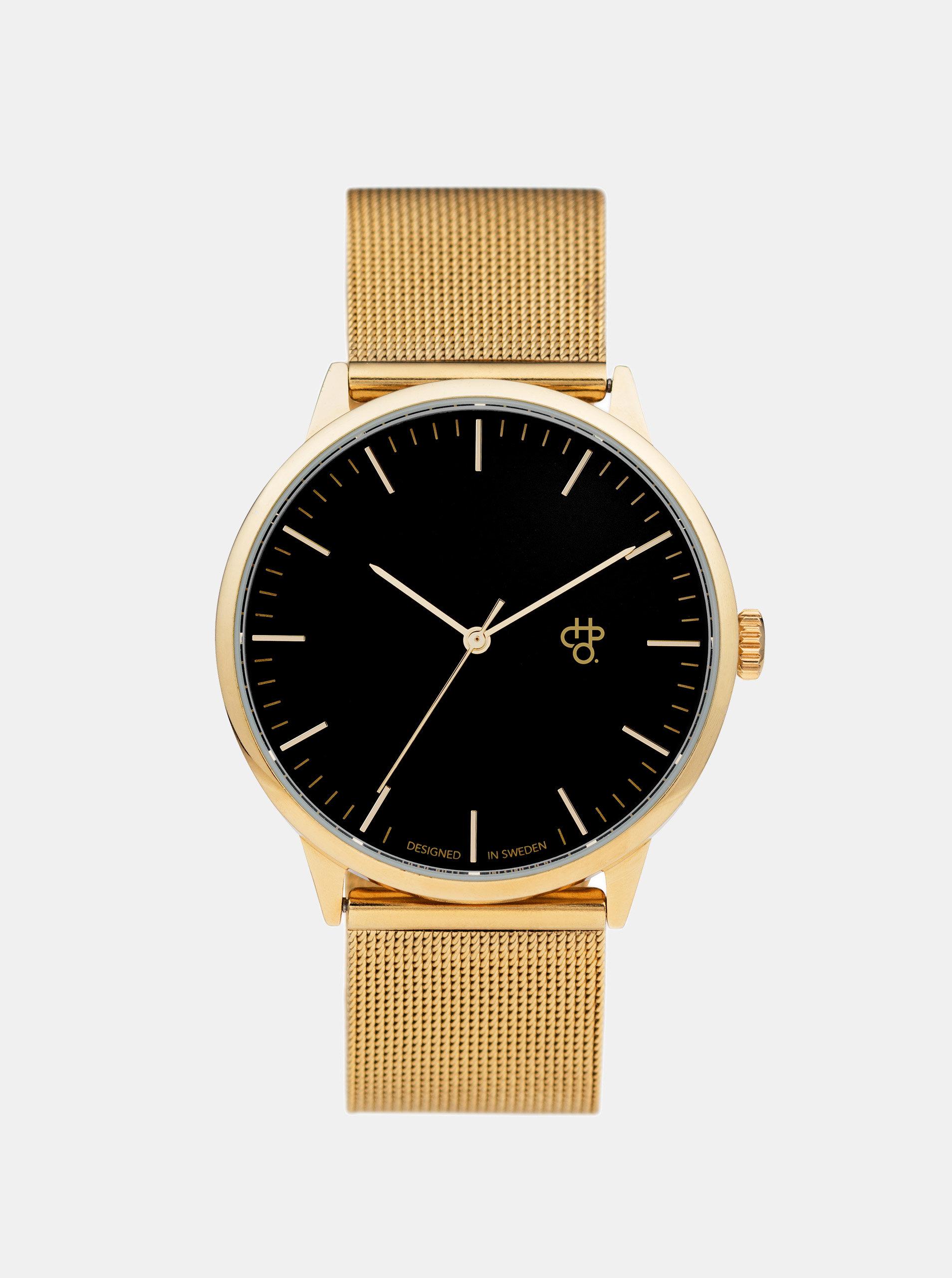 Unisex hodinky ve zlaté barvě s nerezovým páskem CHPO Nando Gold ... 1b118419b9