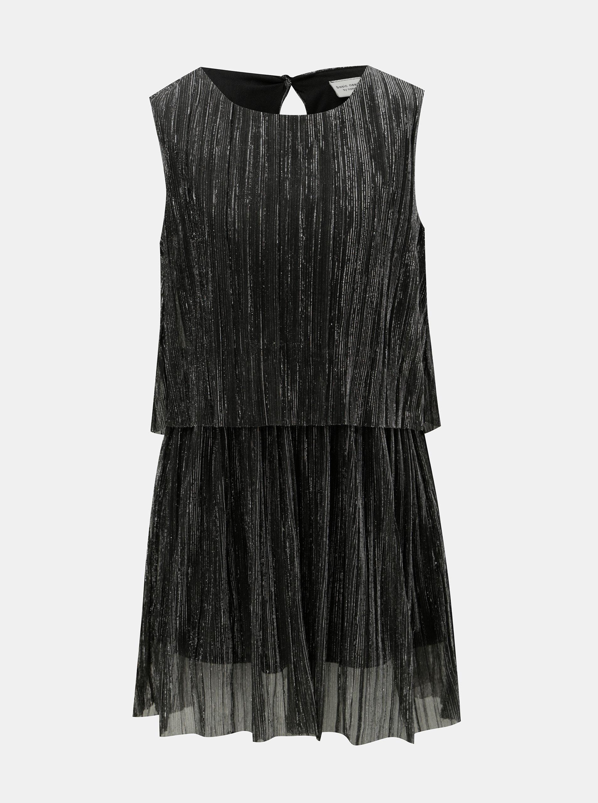 f005d8d112c Holčičí šaty v černo-stříbrné barvě Name it ...