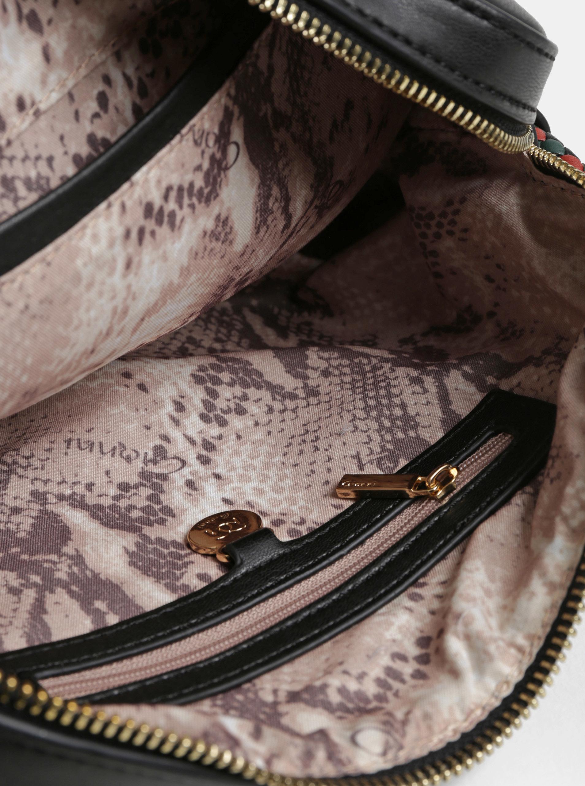 Čierna crossbody kabelka so strapcom Gionni Rosemarin ... 7011b8ff22d