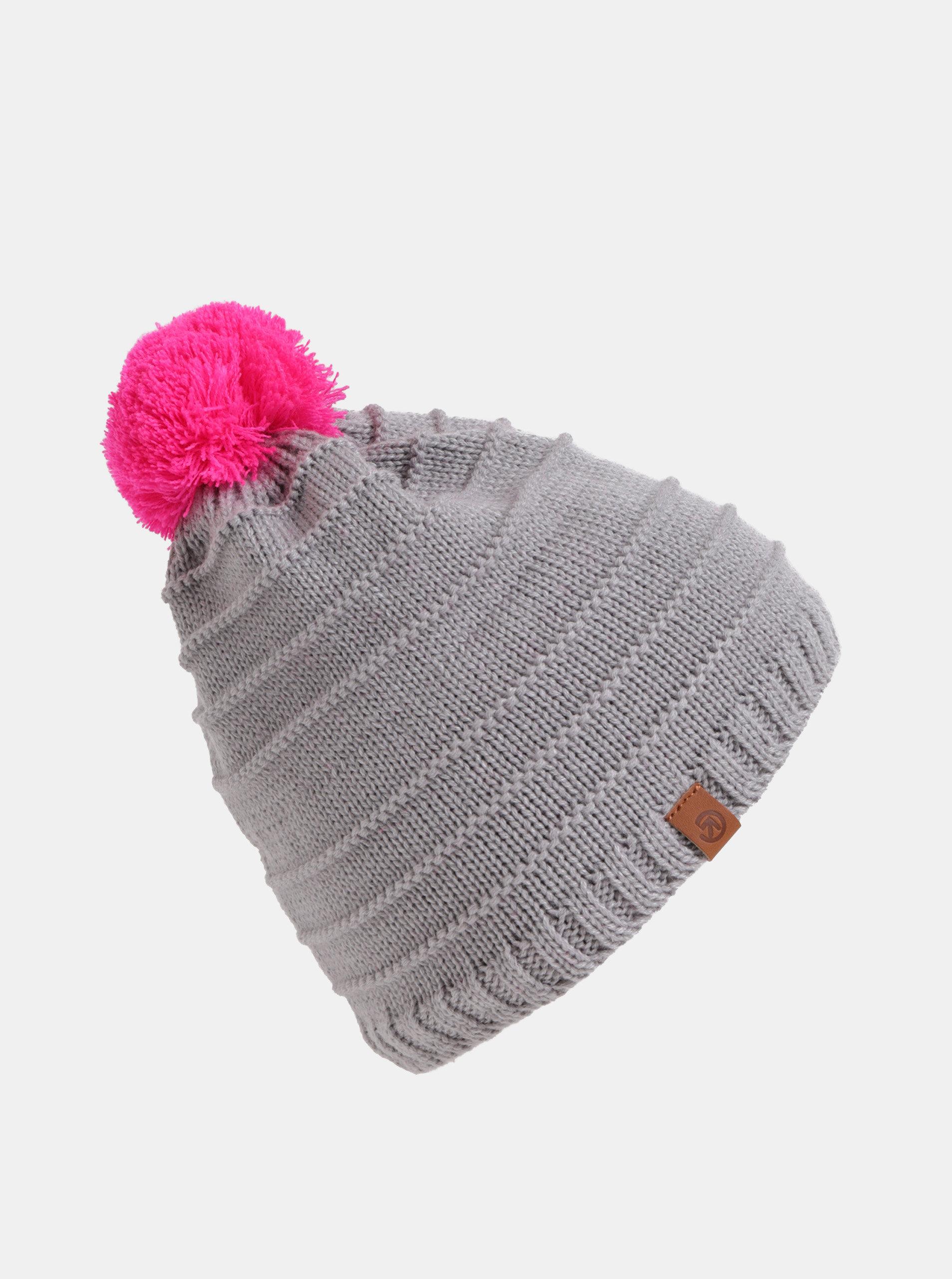 13c31cc0b Ružovo–sivá dámska čiapka s brmbolcom Meatfly | ZOOT.sk