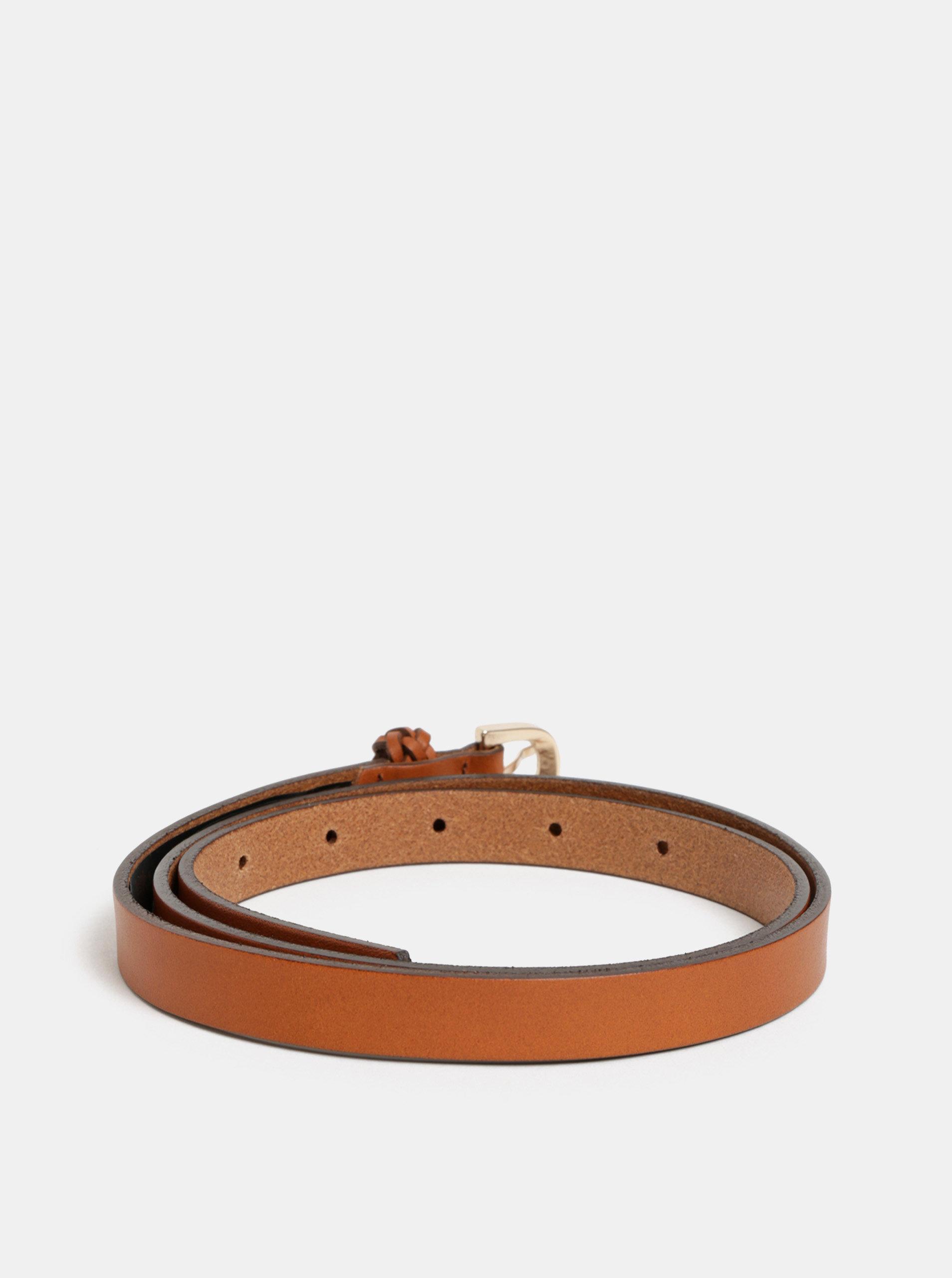 a714a7ca0 Hnedý tenký kožený opasok Pieces Kodi | ZOOT.sk