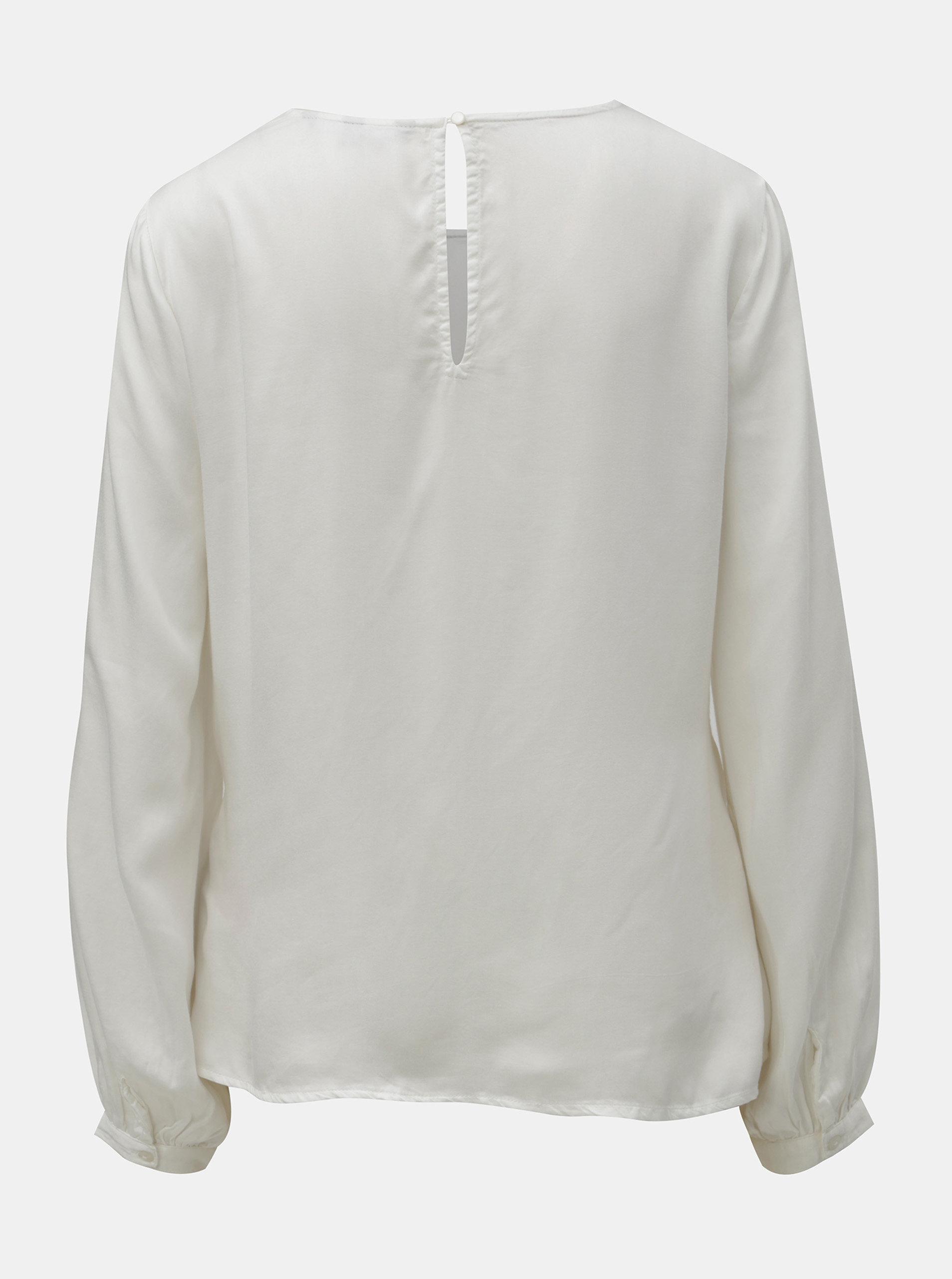 Bílá halenka s dlouhým rukávem VERO MODA Faithy ... 9c61a107fb